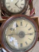 Box of clock parts and various clocks
