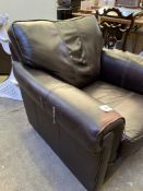 Dark brown leather arm chair by Wade Additions