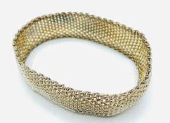 925 silver gilt mesh bracelet