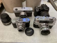 Various cameras and lenses