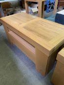 Oak laminate side table
