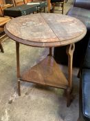 Oak Arts and Crafts table