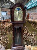Mahogany long case clock made in Western Germany