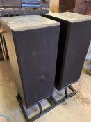 Two Mordaunt-Short MS45Ti floor-standing speakers