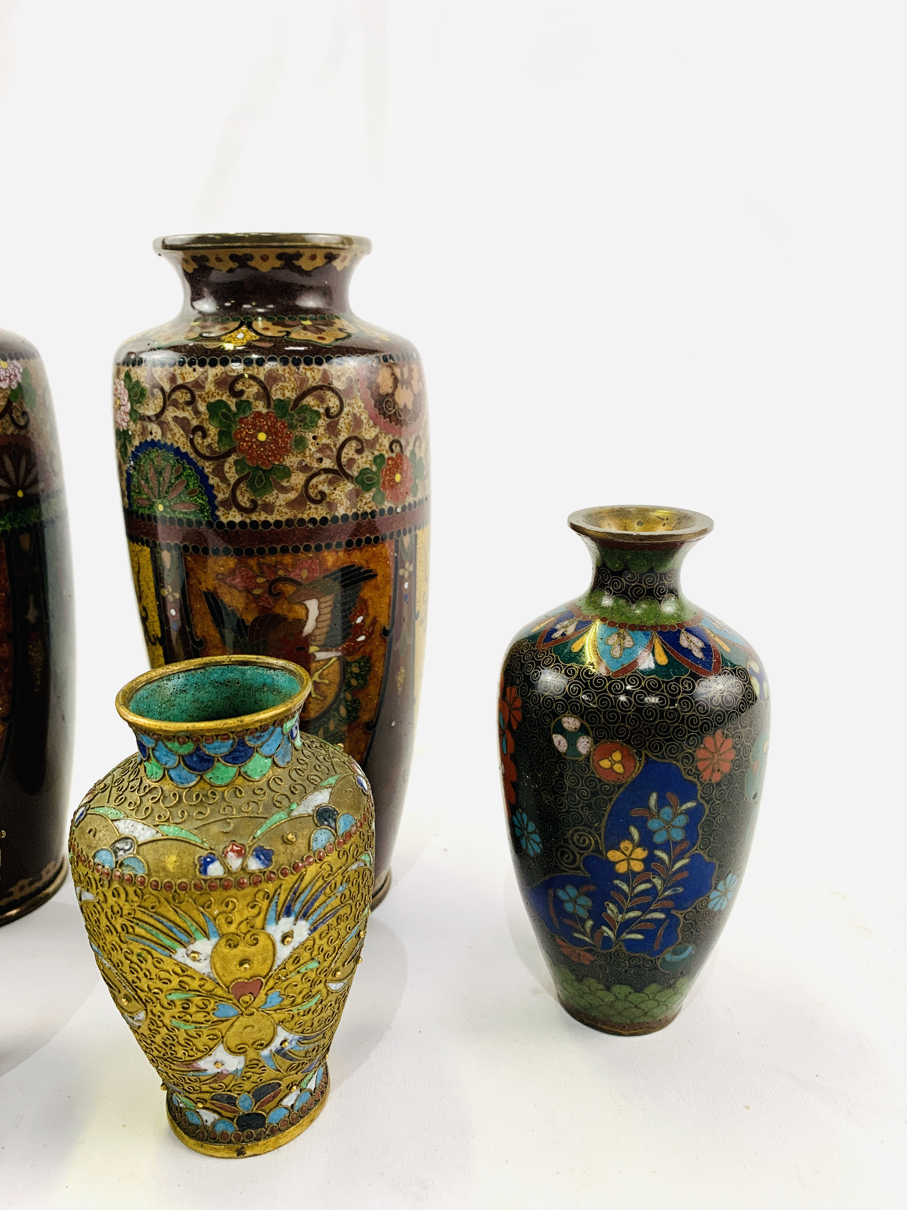 Collection of cloisonné objects - Image 4 of 8