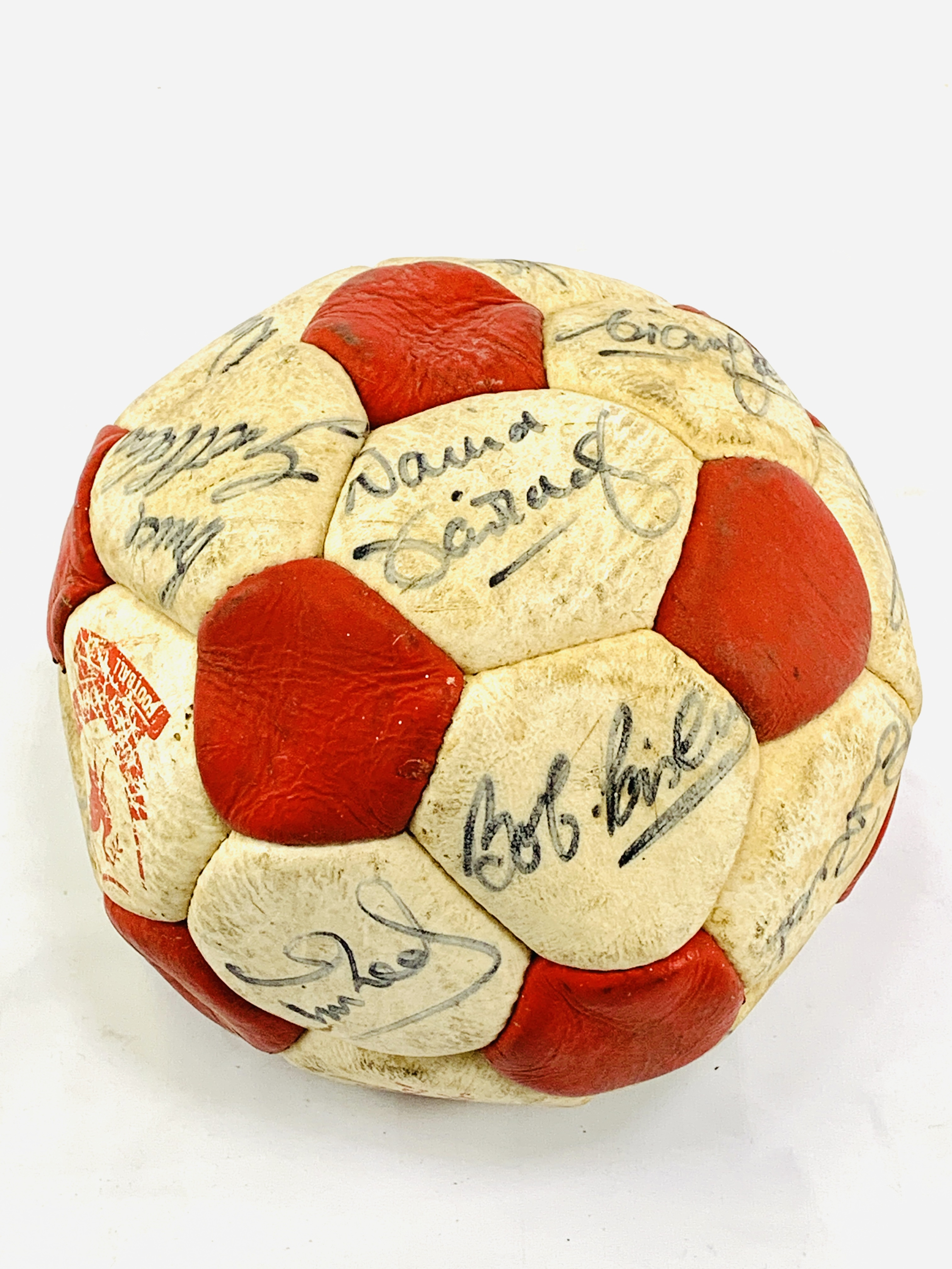 Signed Liverpool FC football, with original signatures - Image 2 of 4
