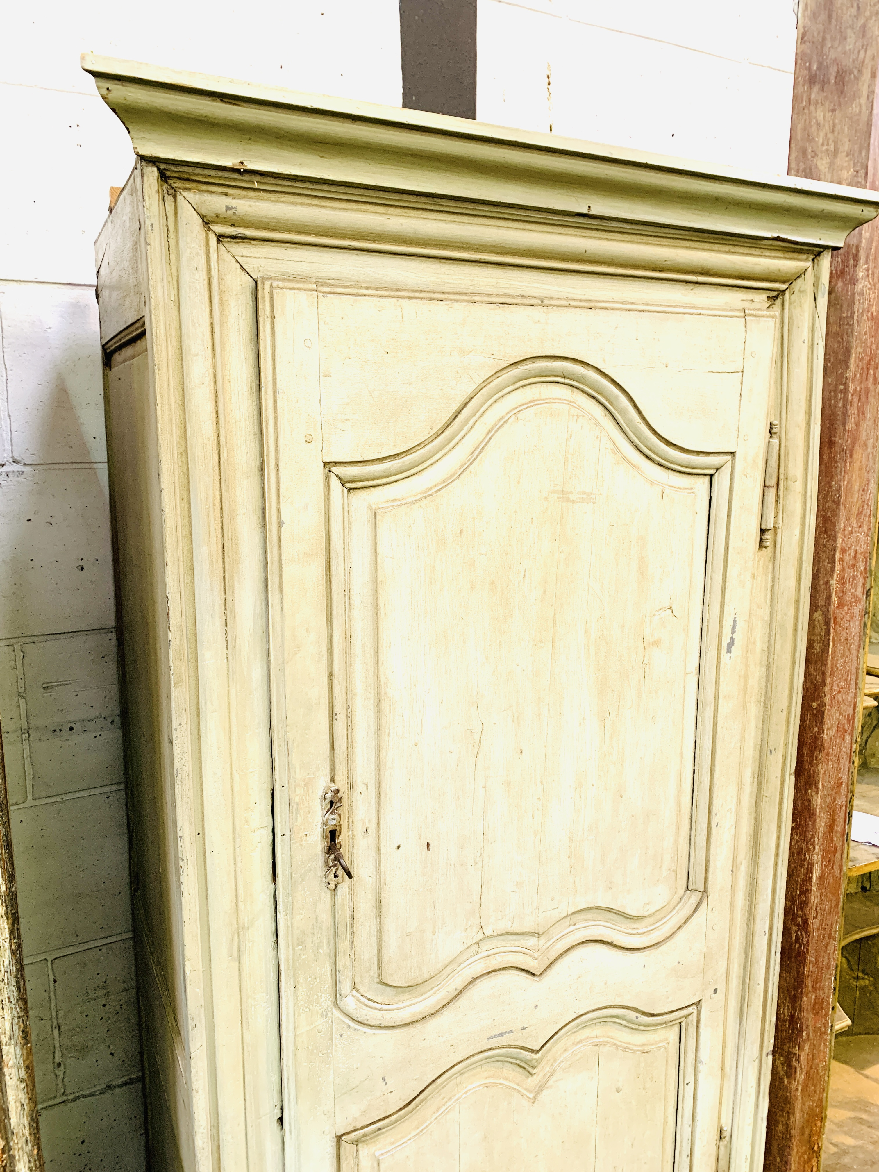 Mid-9th century French painted pine cupboard - Image 2 of 5