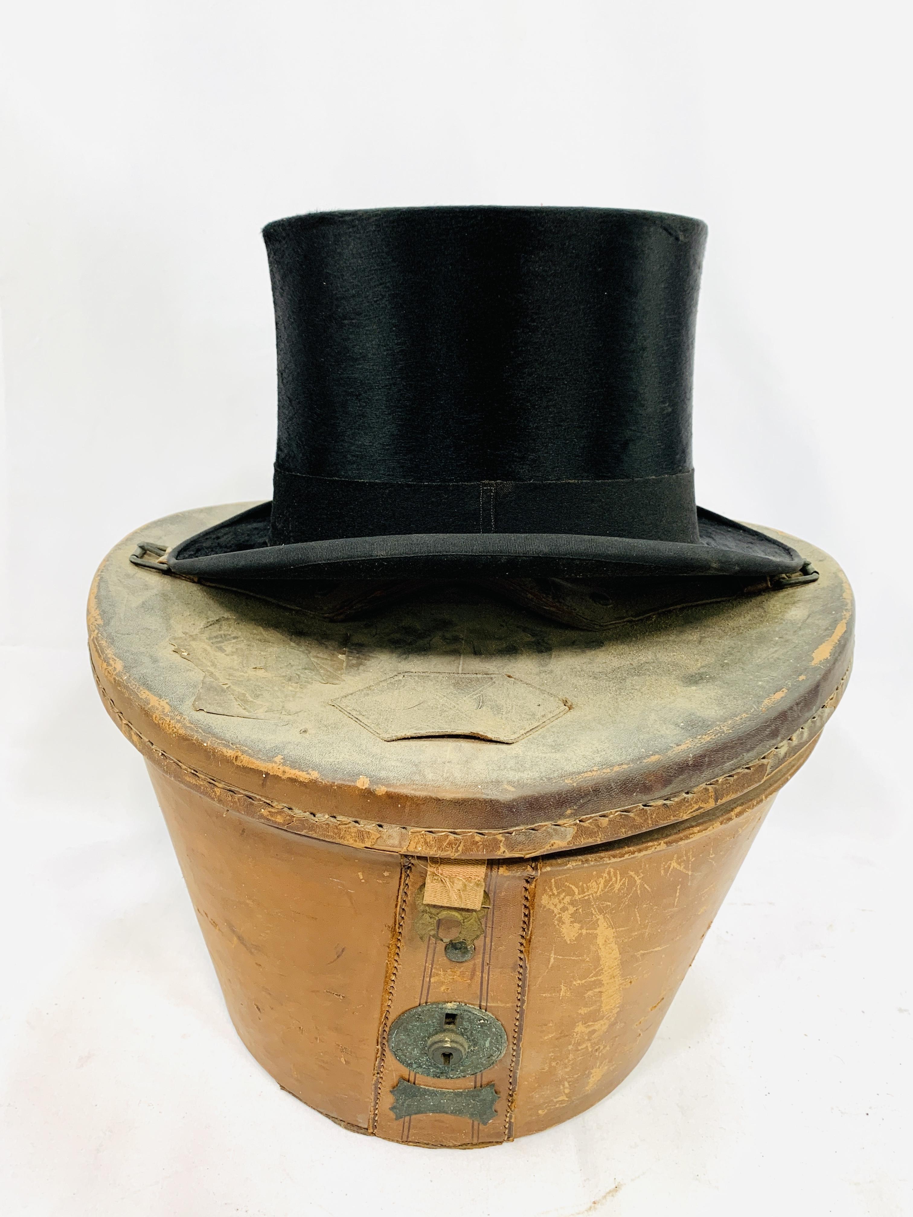 Black silk top hat by City Cork Hat Company Ltd