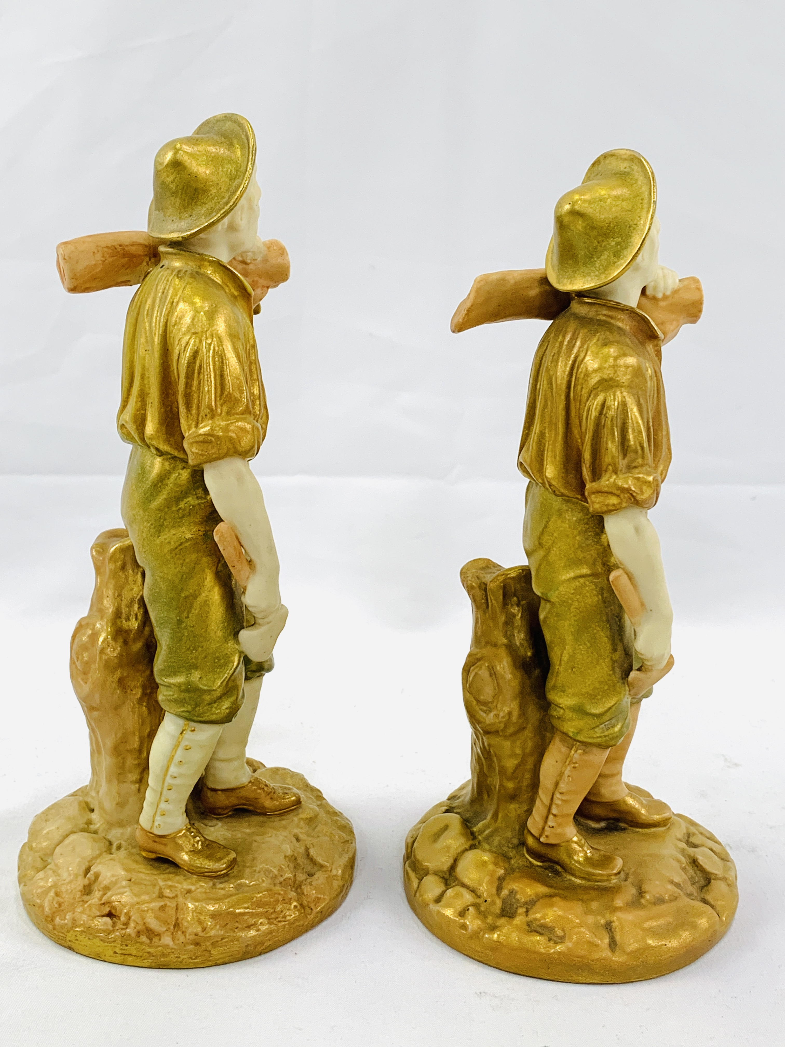 """Two 19th Century Royal Worcester figurines """"The Woodman"""" - Image 2 of 3"""