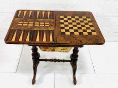 Walnut games cum sewing table