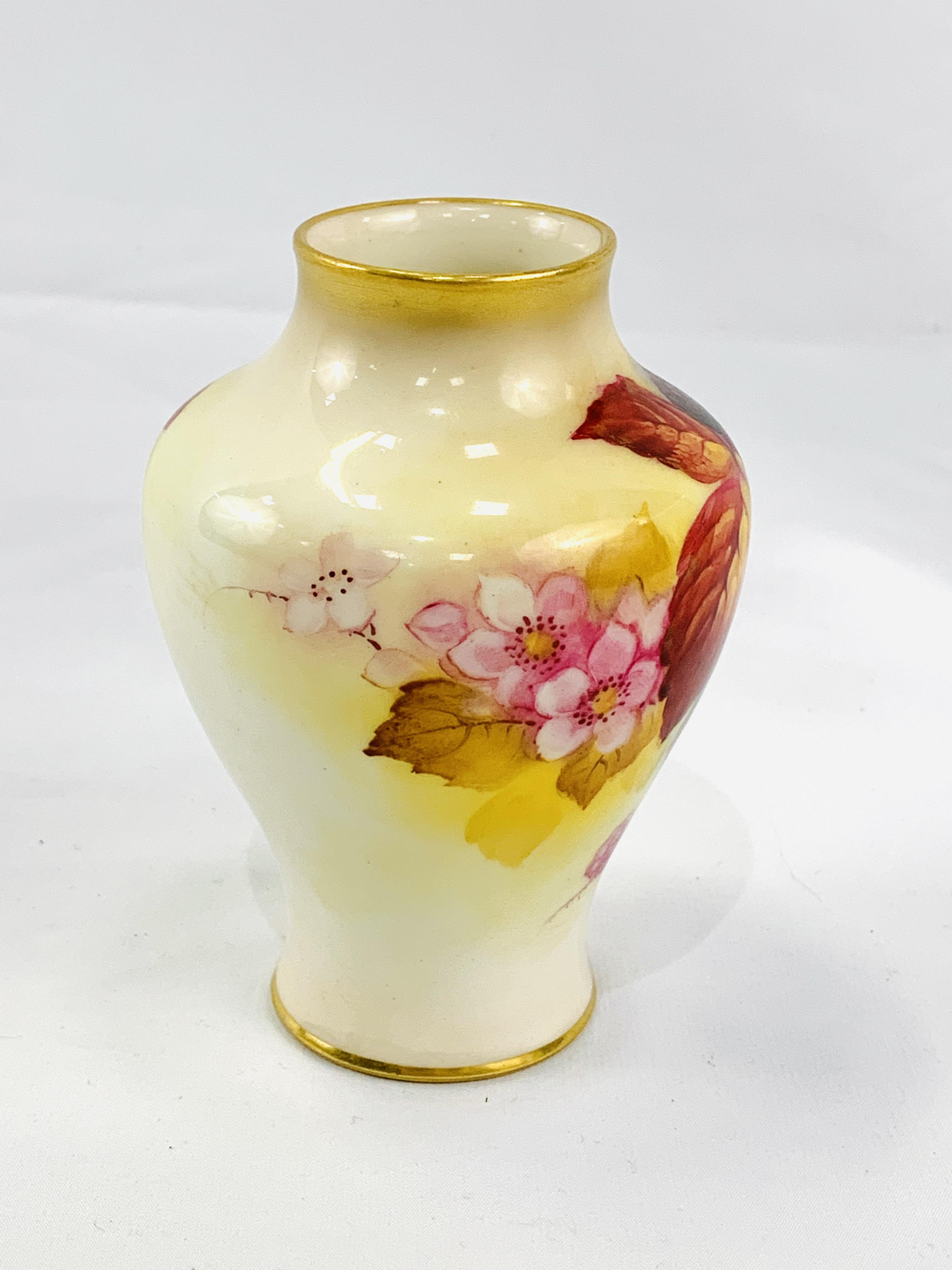 Royal Worcester vase hand-painted with blackberries by J Blake - Image 4 of 5