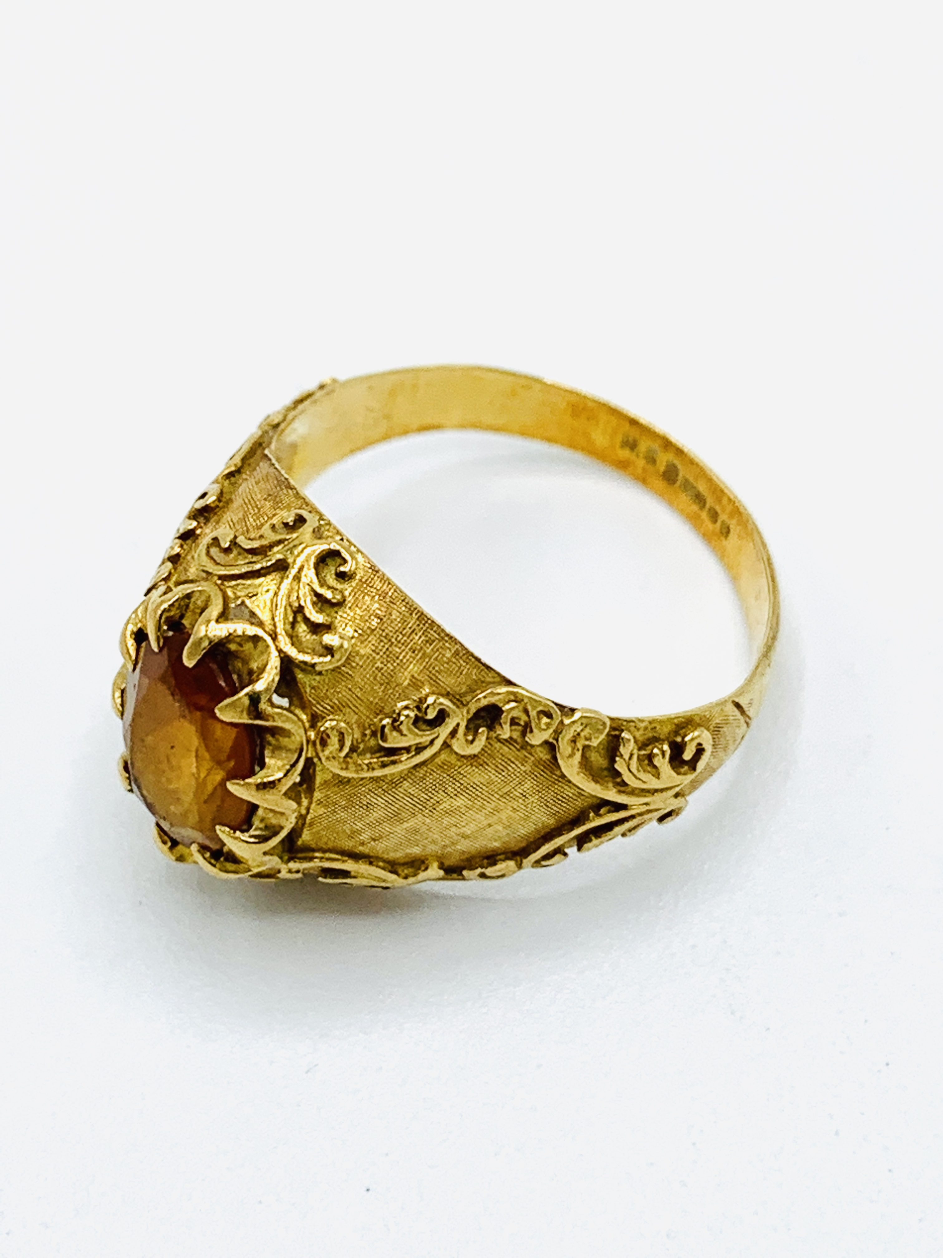 18ct gold and citrine ring and a yellow metal and yellow stone ring - Image 7 of 8