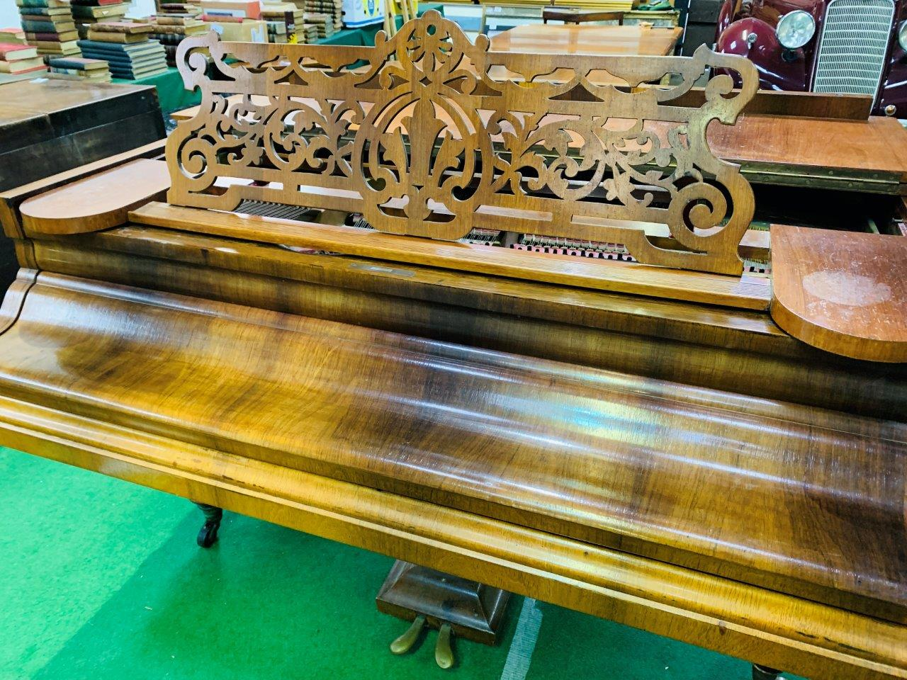 Mahogany cased small grand piano by Hagspiel & Company - Image 4 of 6