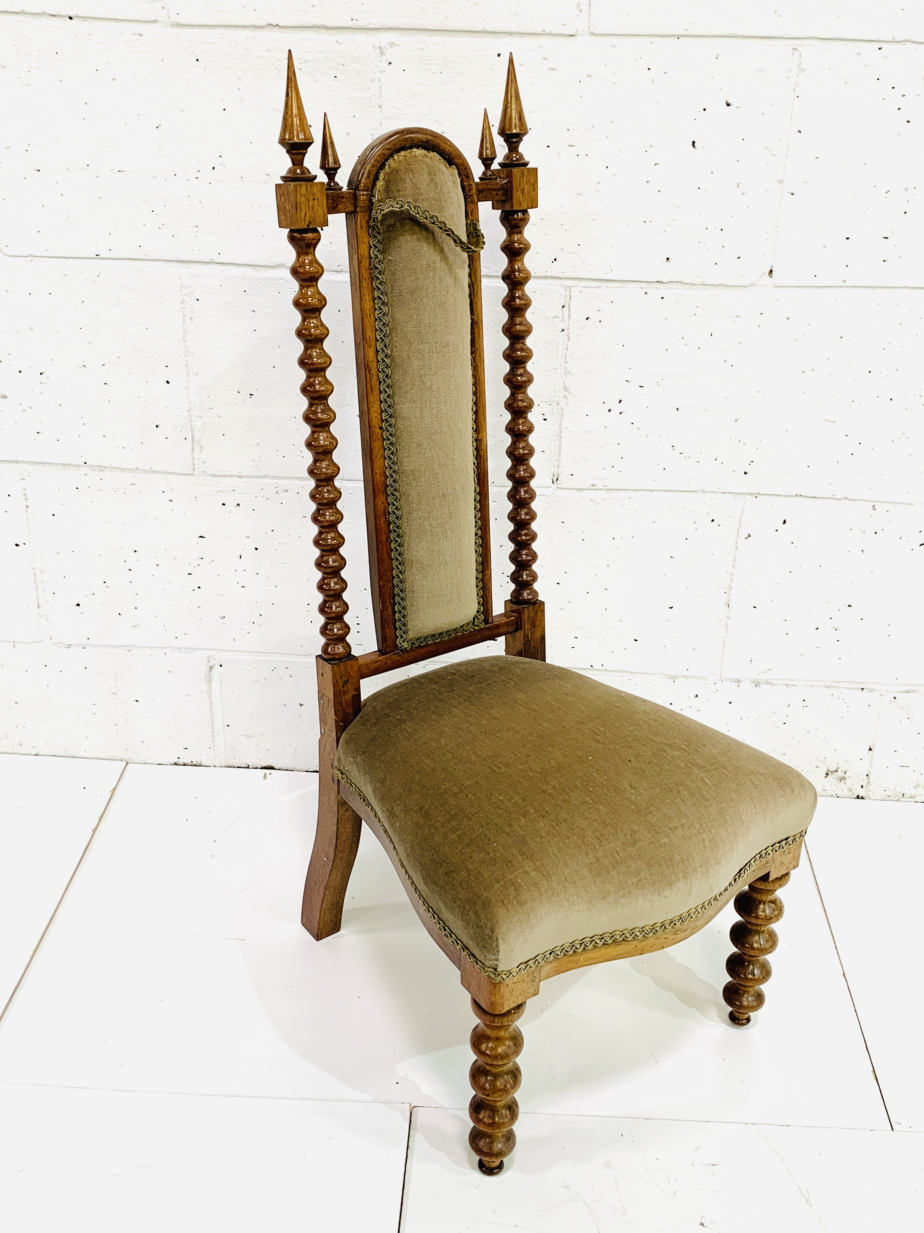 Upholstered decorative hall chair - Image 3 of 4