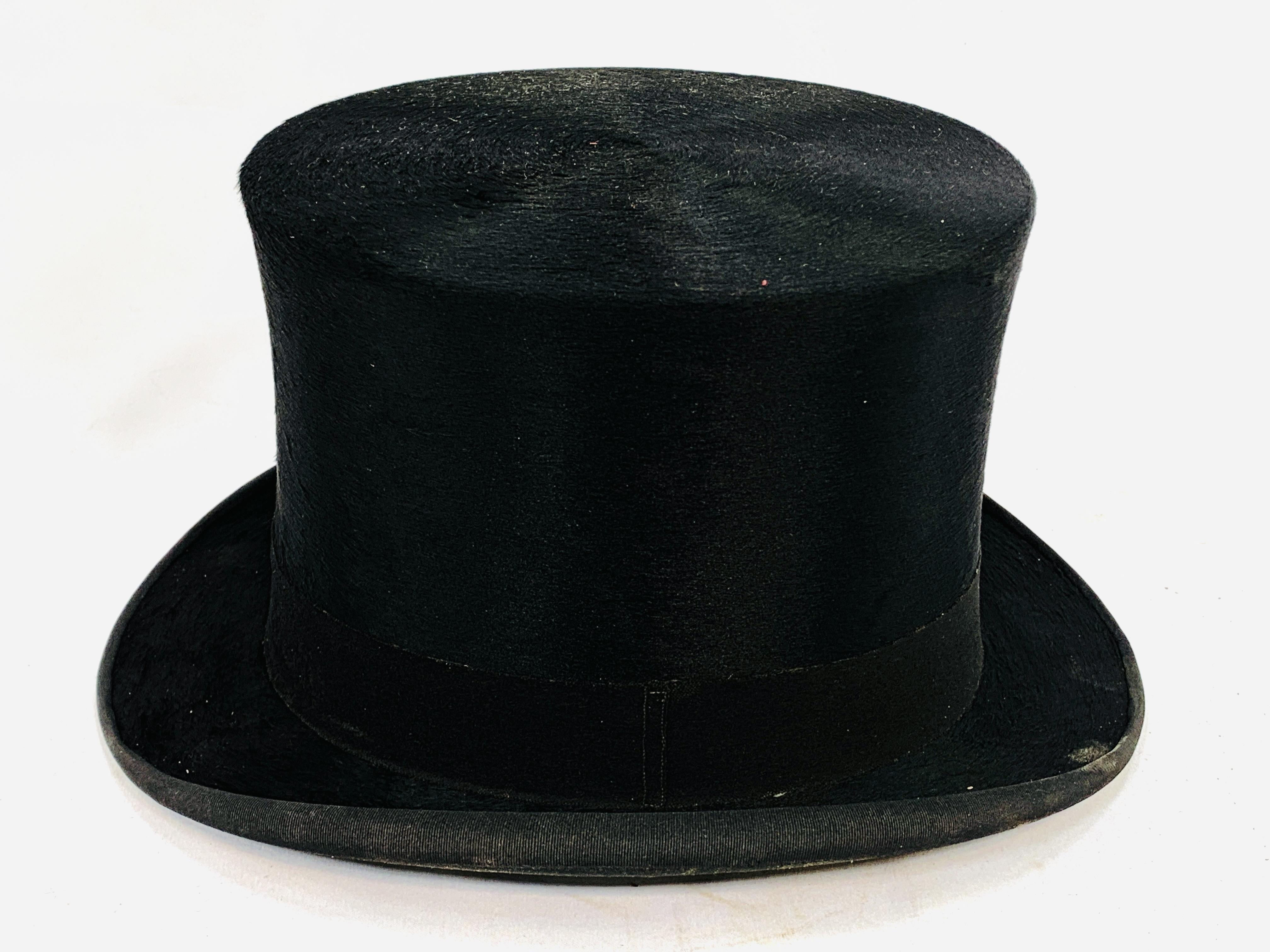Black silk top hat by City Cork Hat Company Ltd - Image 3 of 3