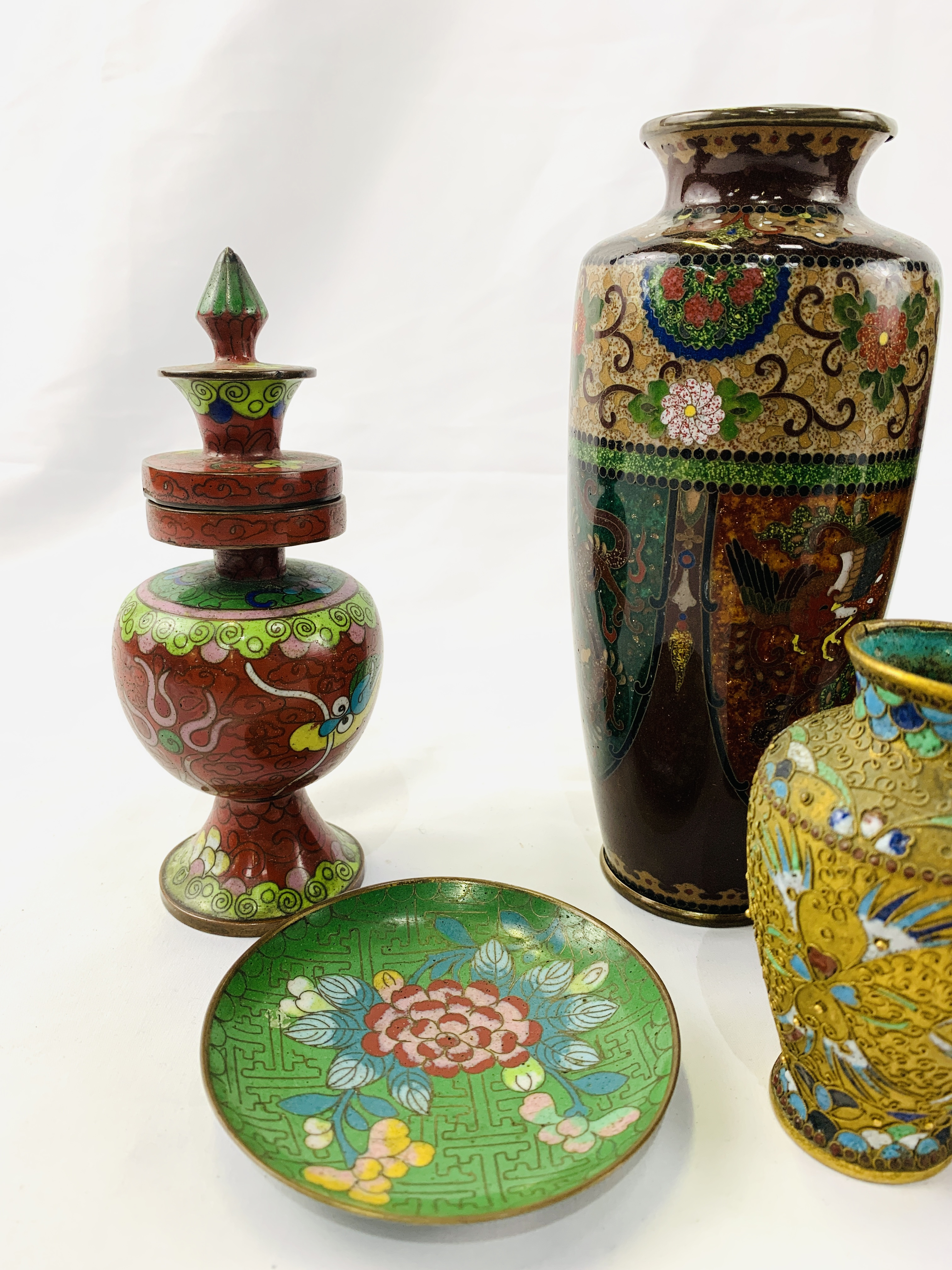 Collection of cloisonné objects - Image 3 of 8