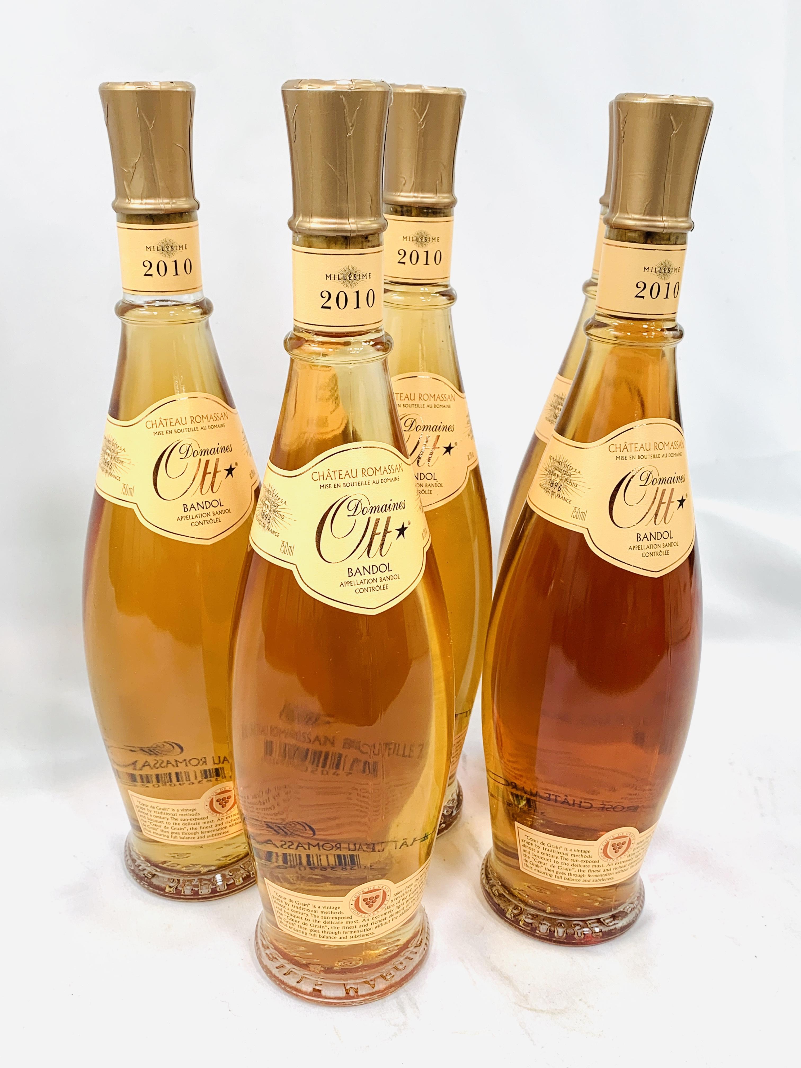 Five 75cl bottles 2010 Domaines Ott Château Romassan Bandol rosé - Image 3 of 3