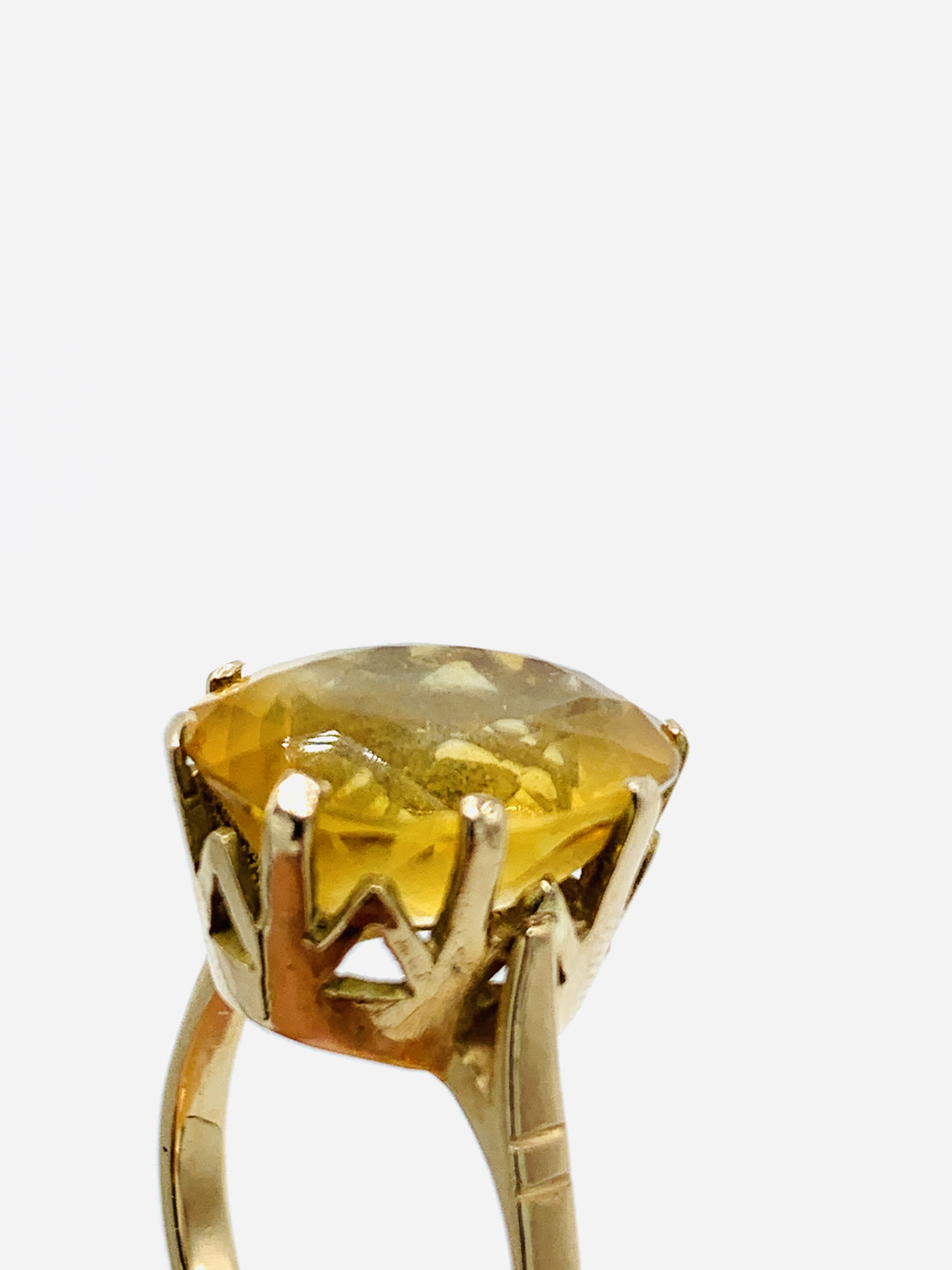 18ct gold and citrine ring and a yellow metal and yellow stone ring - Image 4 of 8