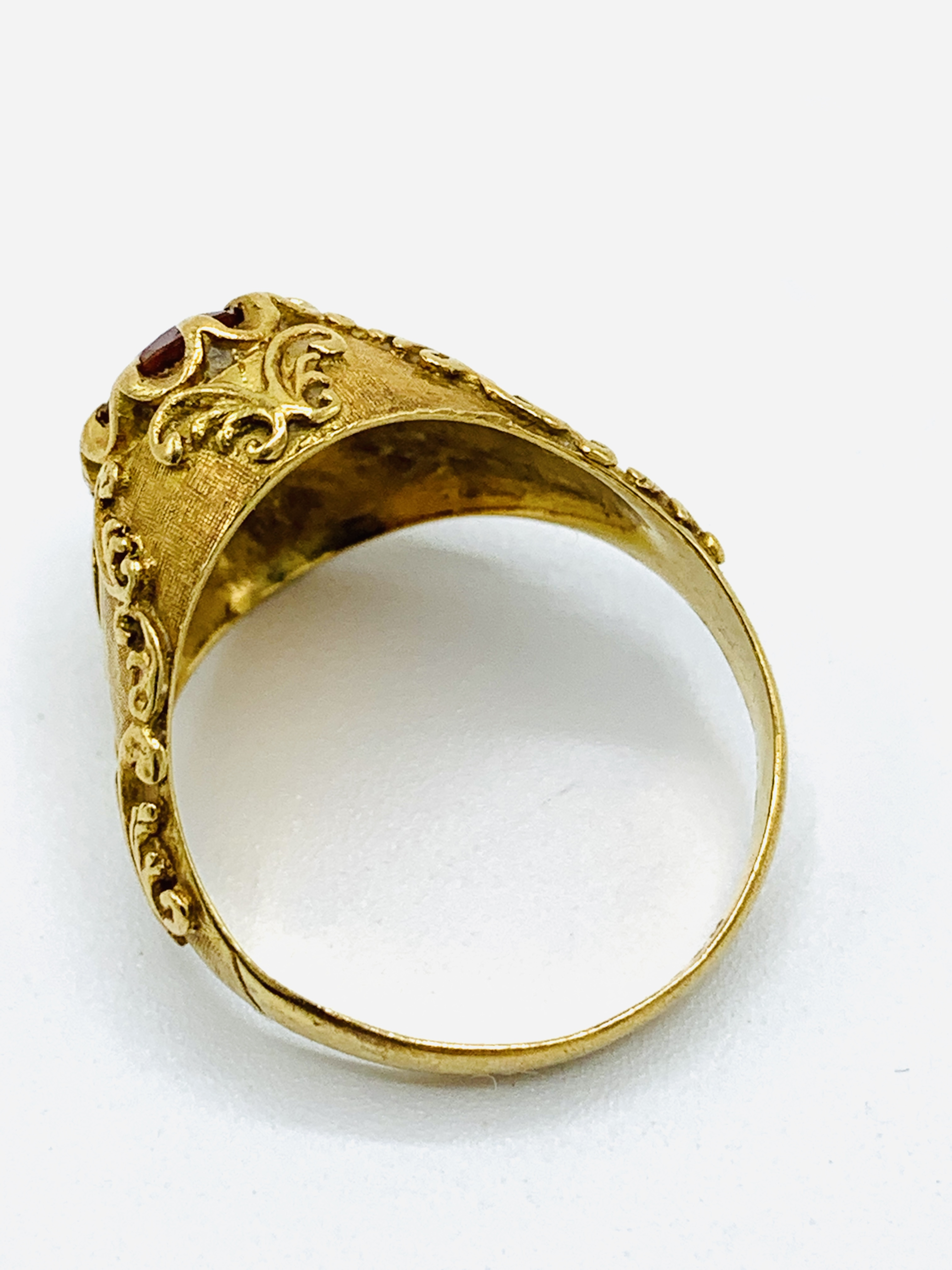 18ct gold and citrine ring and a yellow metal and yellow stone ring - Image 8 of 8