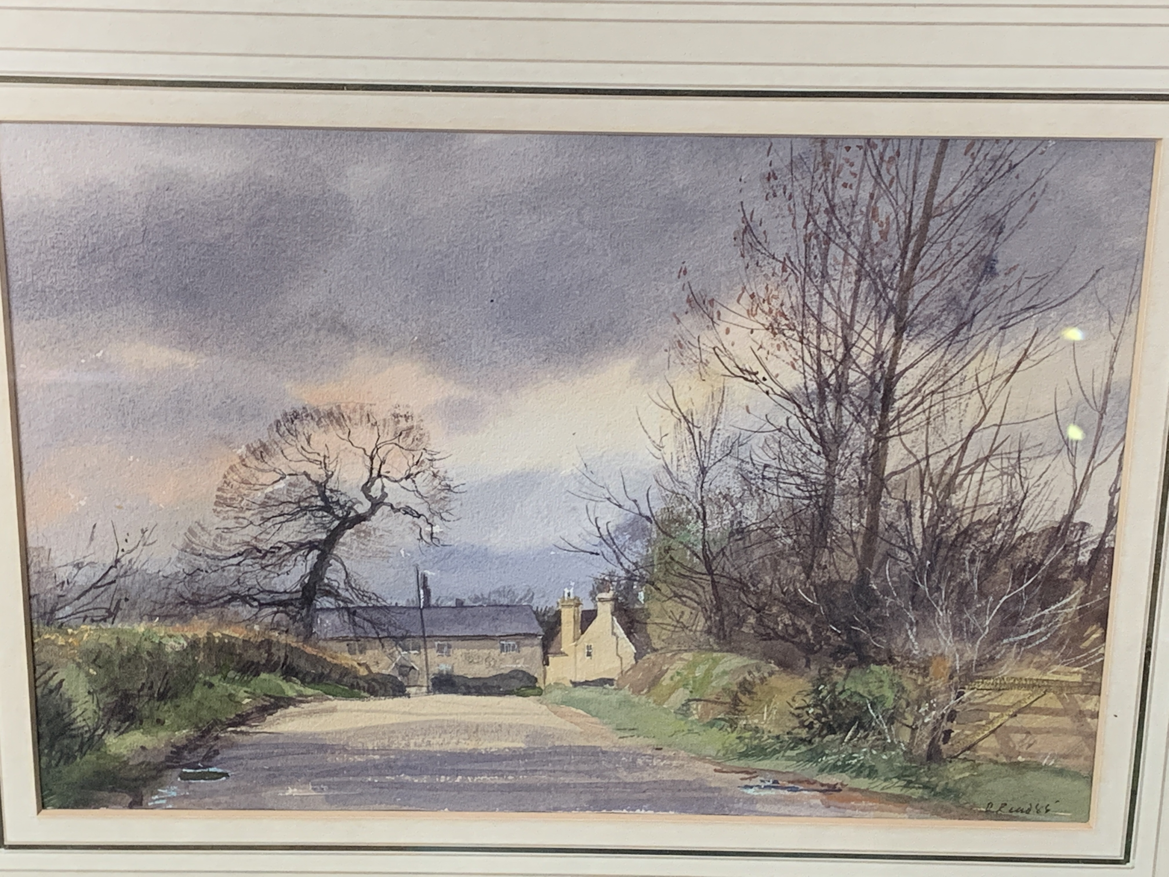 Framed and glazed watercolour, signed and dated R. Read '85 - Image 3 of 3