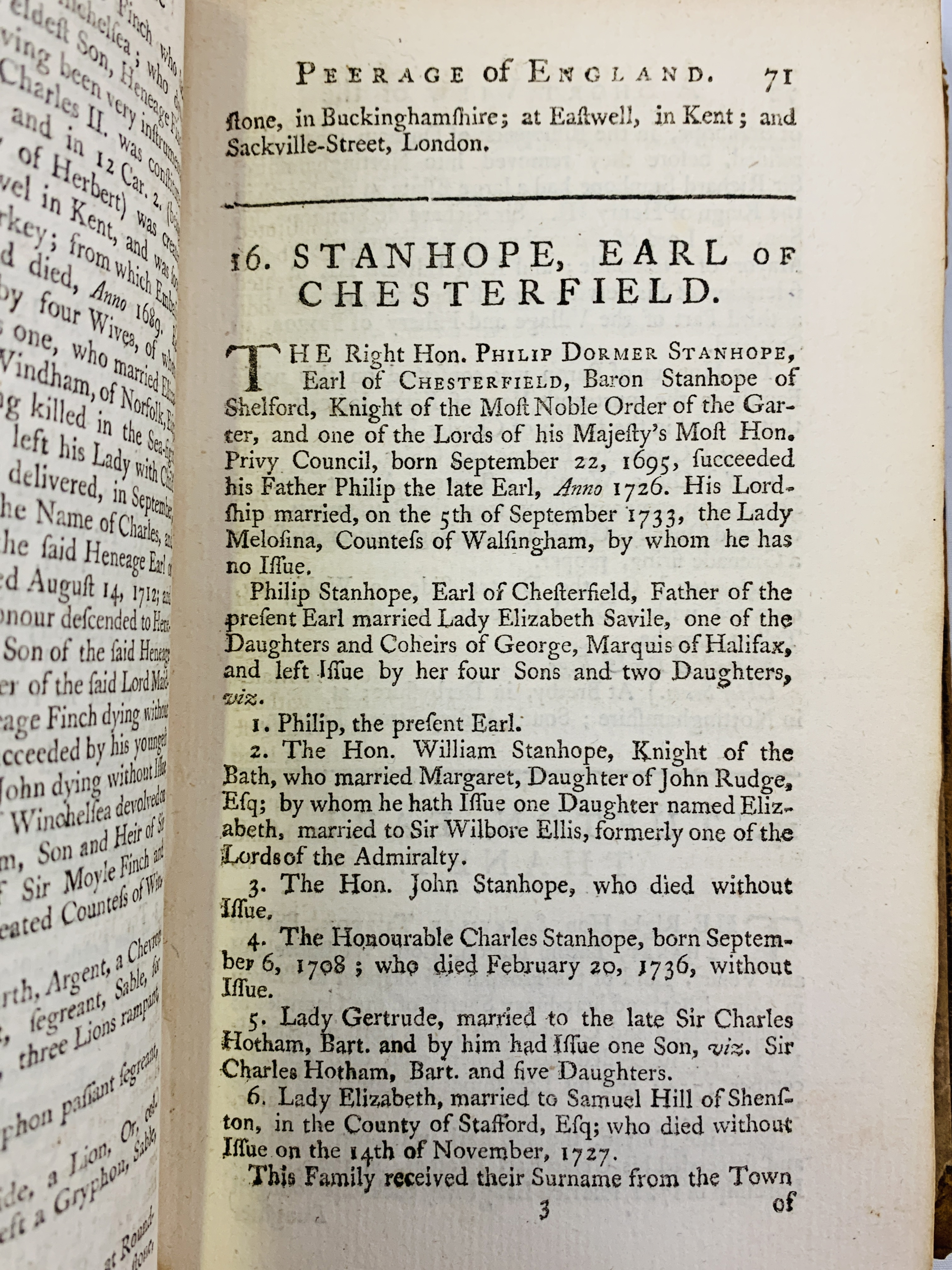 A Short View of the Families of the Present English Nobility, 1758 by Mr Salmon - Image 4 of 4