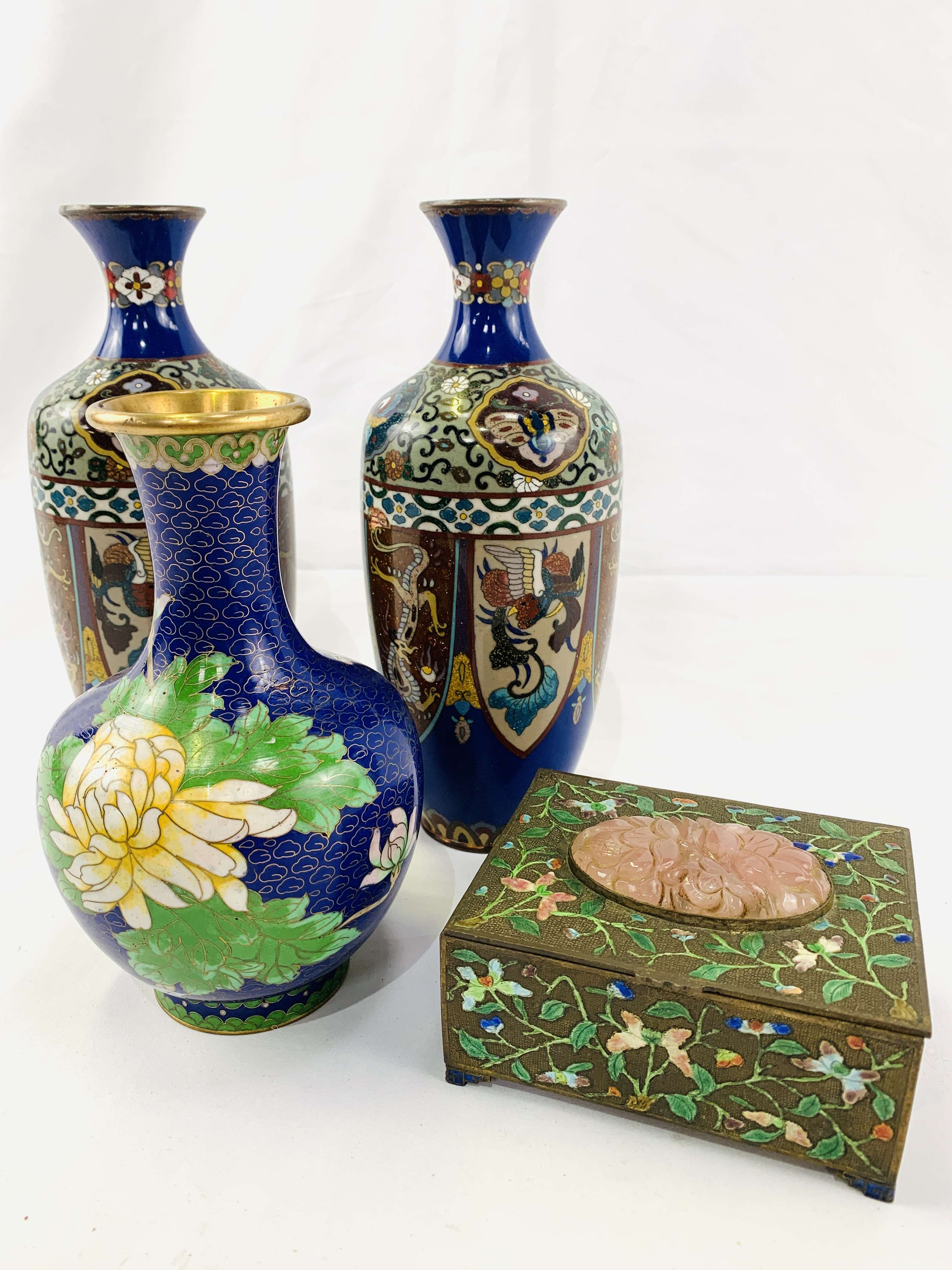 Collection of cloisonné objects - Image 8 of 8