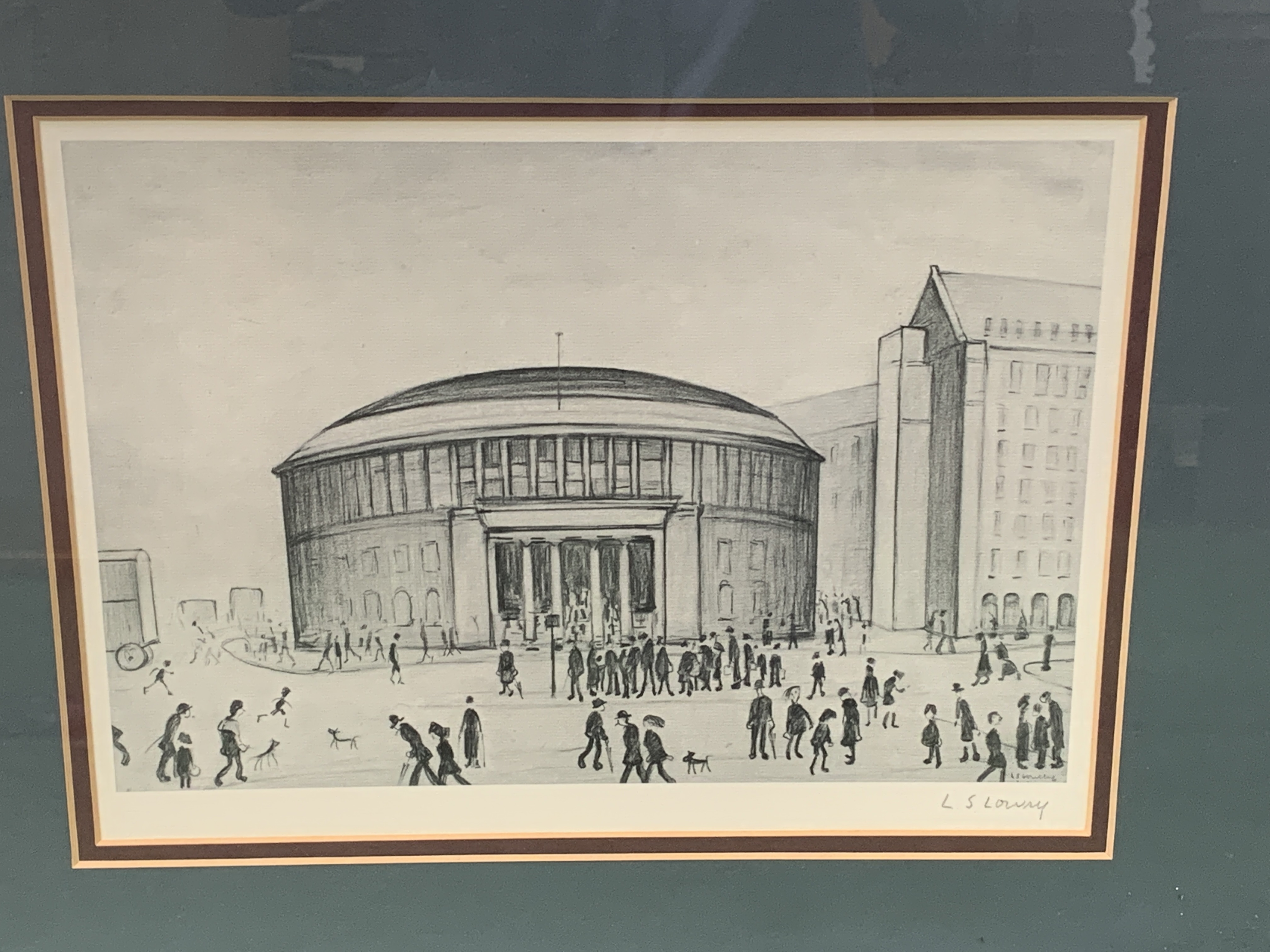 Framed and glazed Limited Edition L S Lowry print of Manchester Reference Library - Image 4 of 4