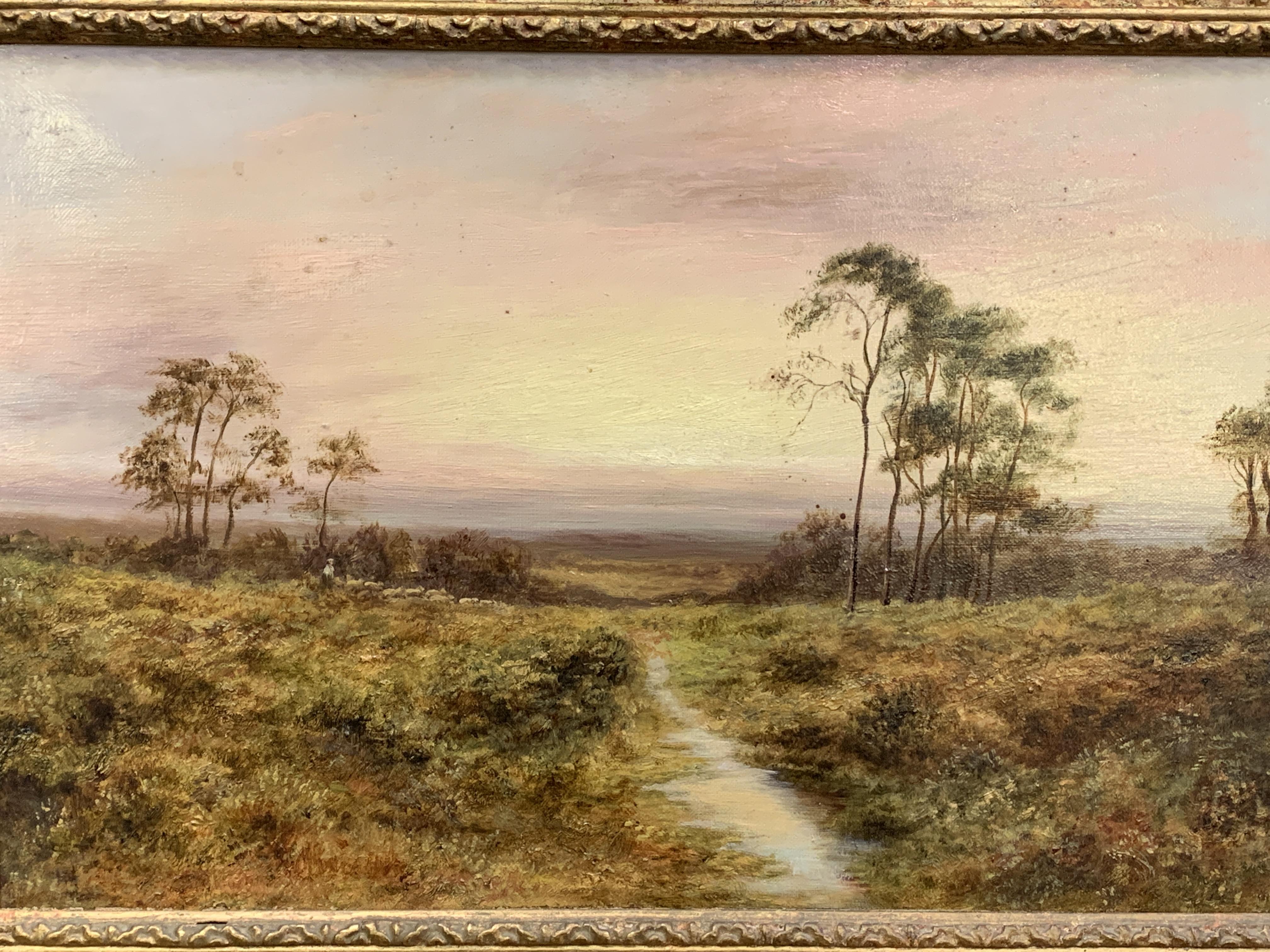 Ornate gilt framed oil on canvas indistinctly signed bottom left, label on reverse E. M .Wimperis - Image 2 of 3