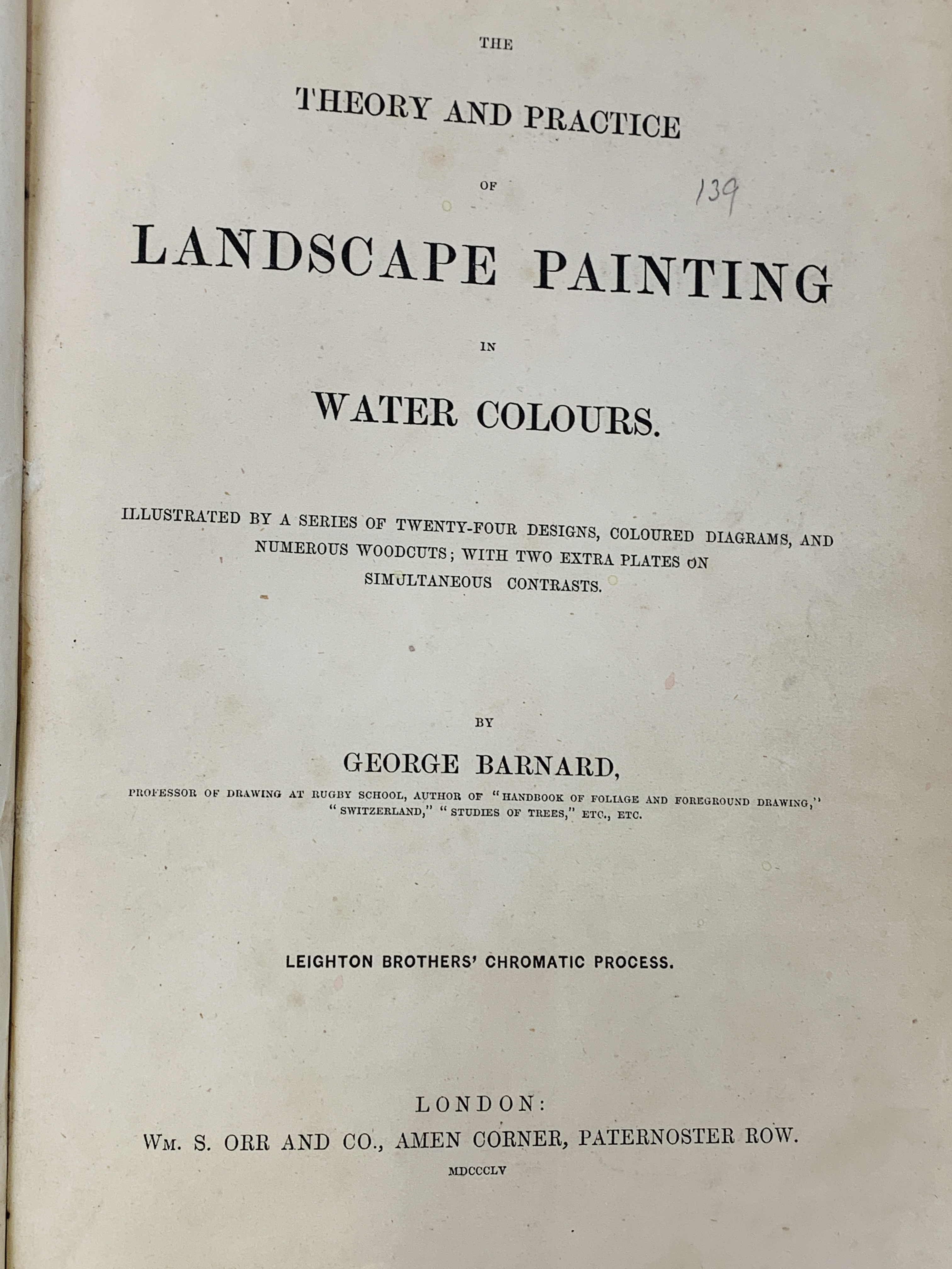 Landscape Painting in Watercolours, 1855, Sketching Without a Master, and Linear Perspective - Image 4 of 7