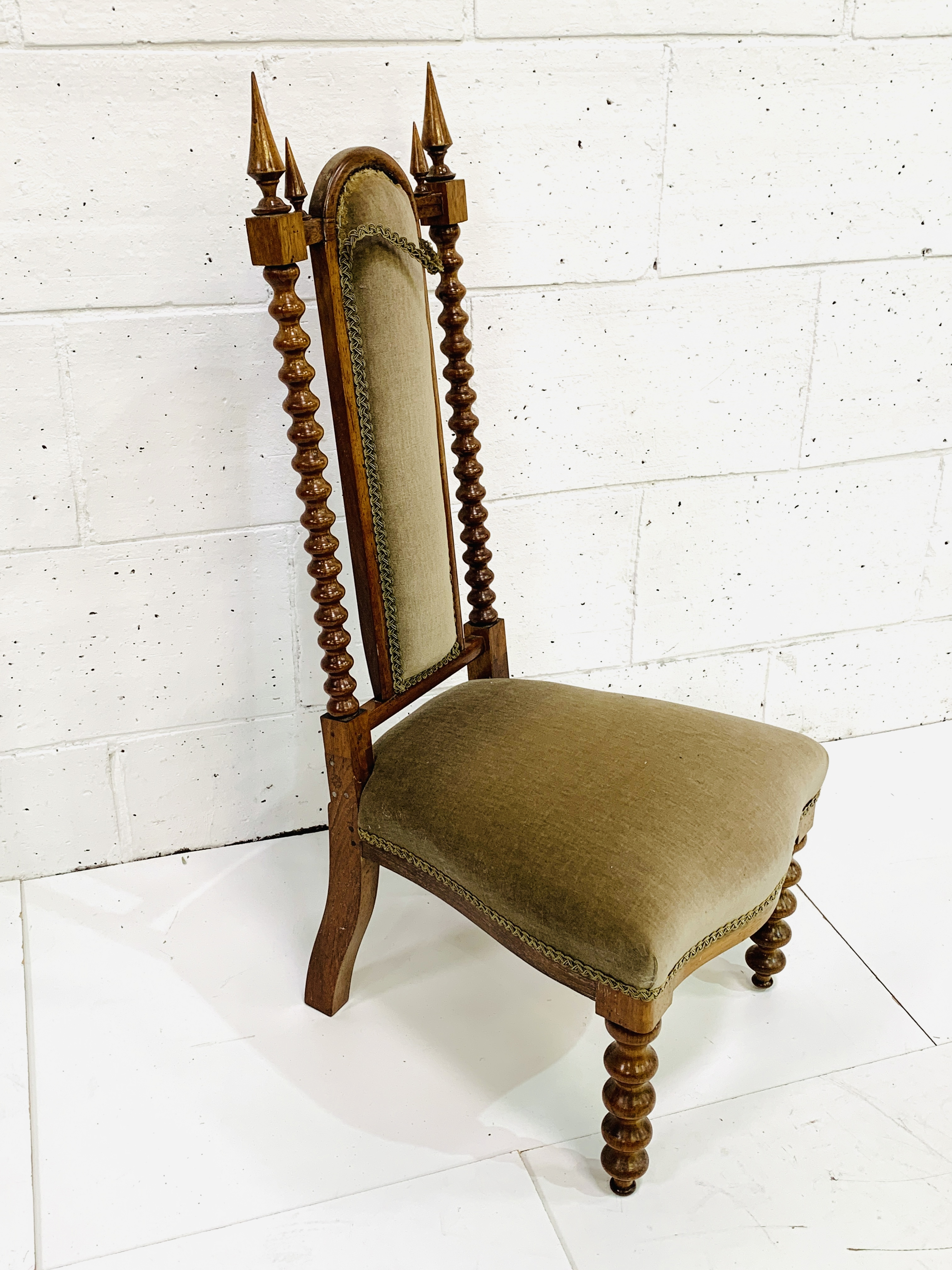 Upholstered decorative hall chair - Image 4 of 4