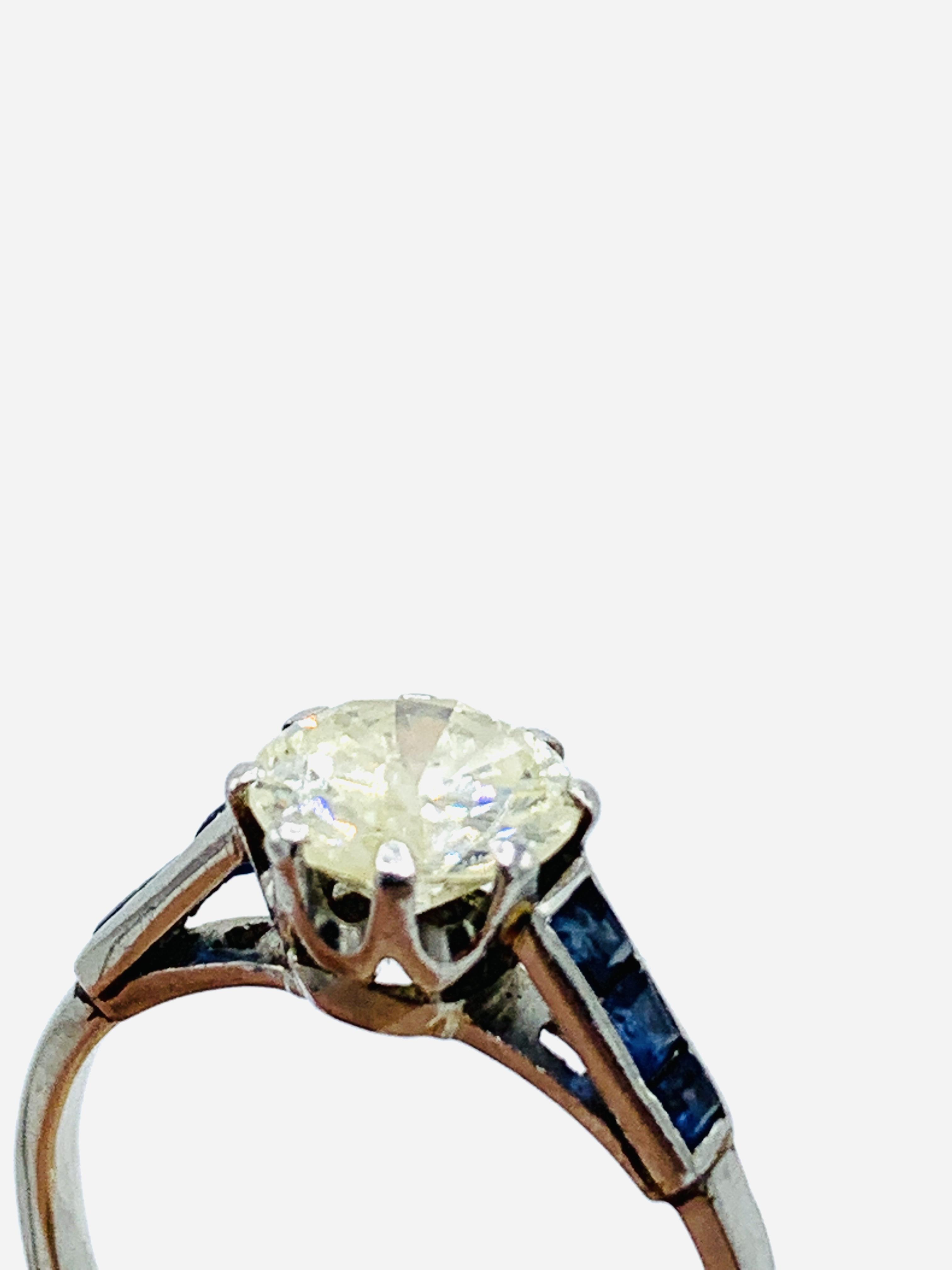 Platinum solitaire diamond ring - Image 2 of 5