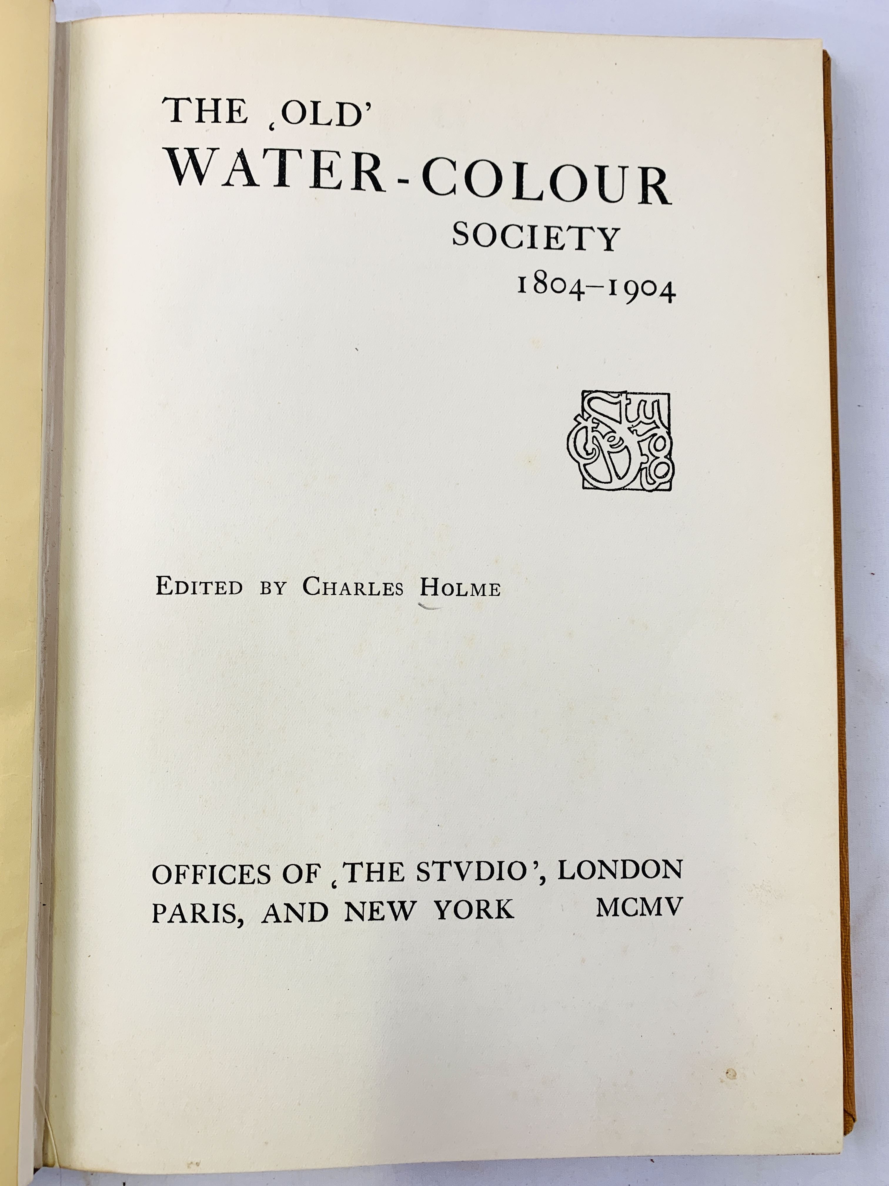 The Old Watercolour Society, 1804-1904, and Arts and Crafts, both edited by Charles Holme