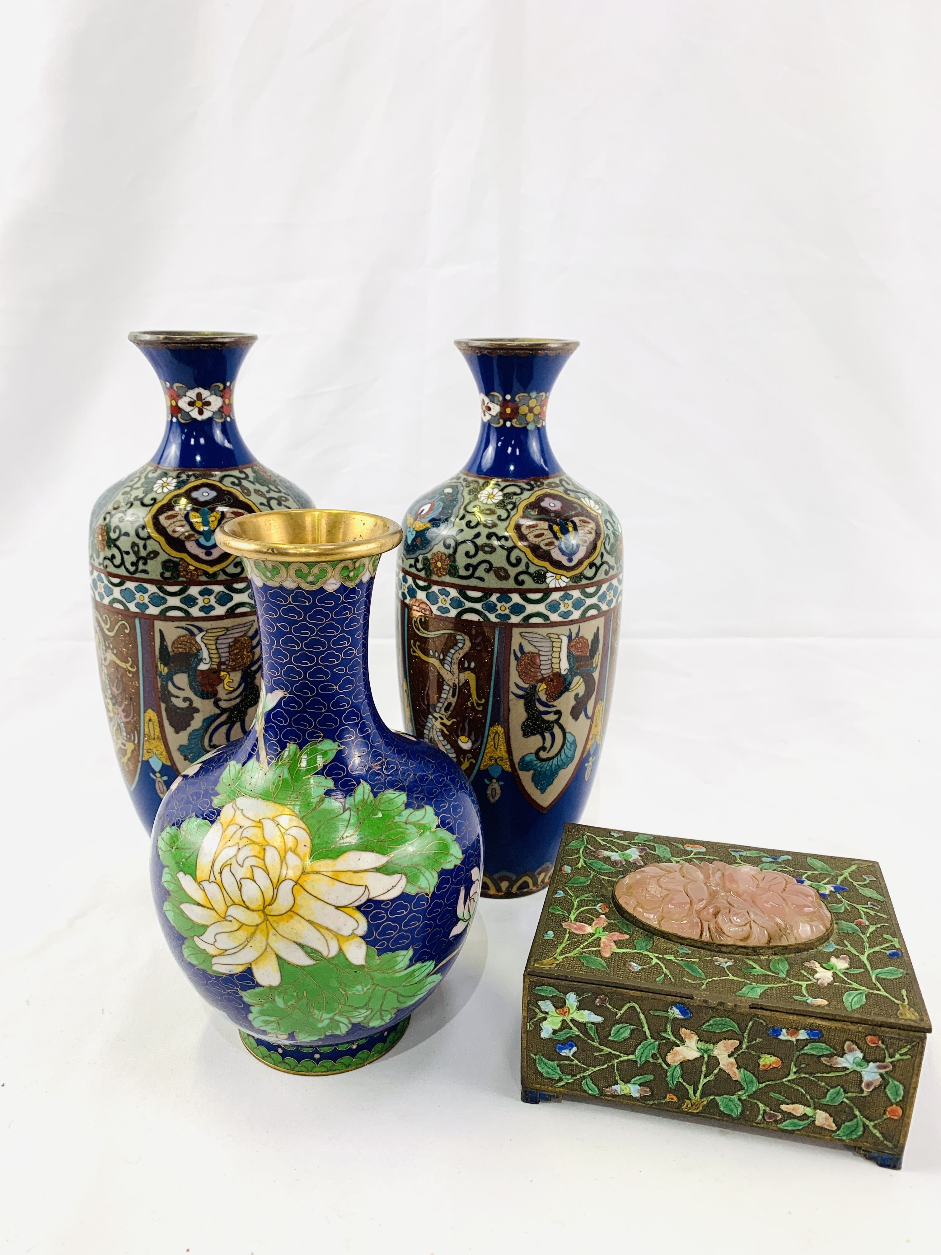 Collection of cloisonné objects - Image 6 of 8