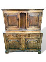 Early 19th century oak court cupboard