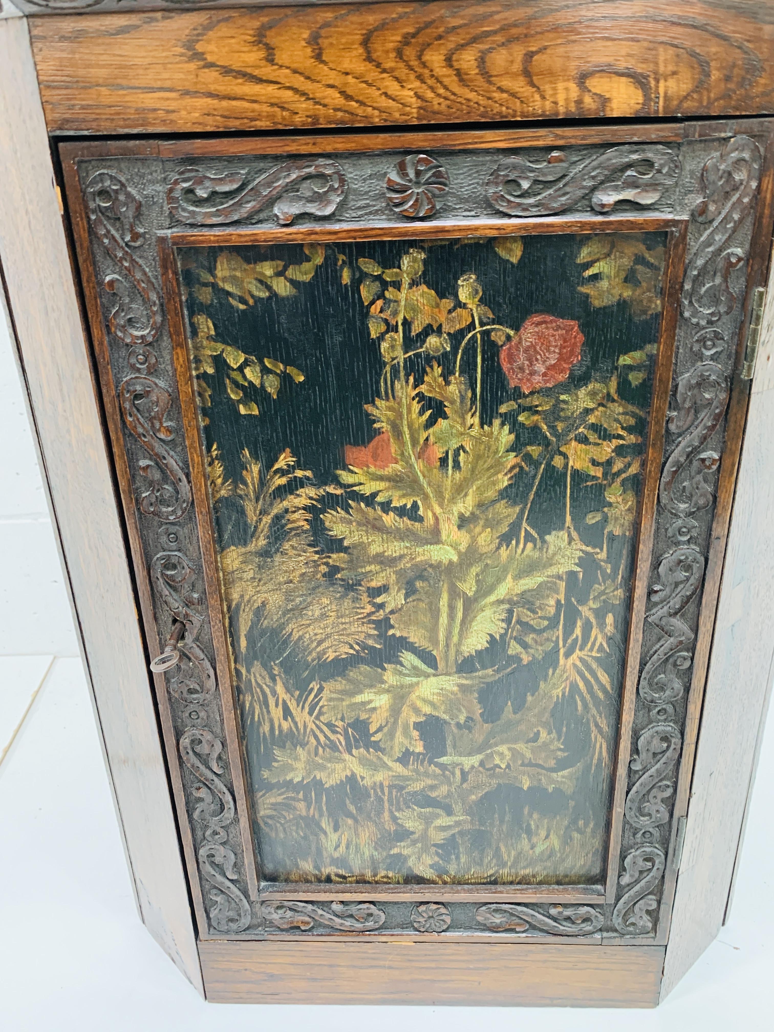 Oak corner cupboard - Image 6 of 6