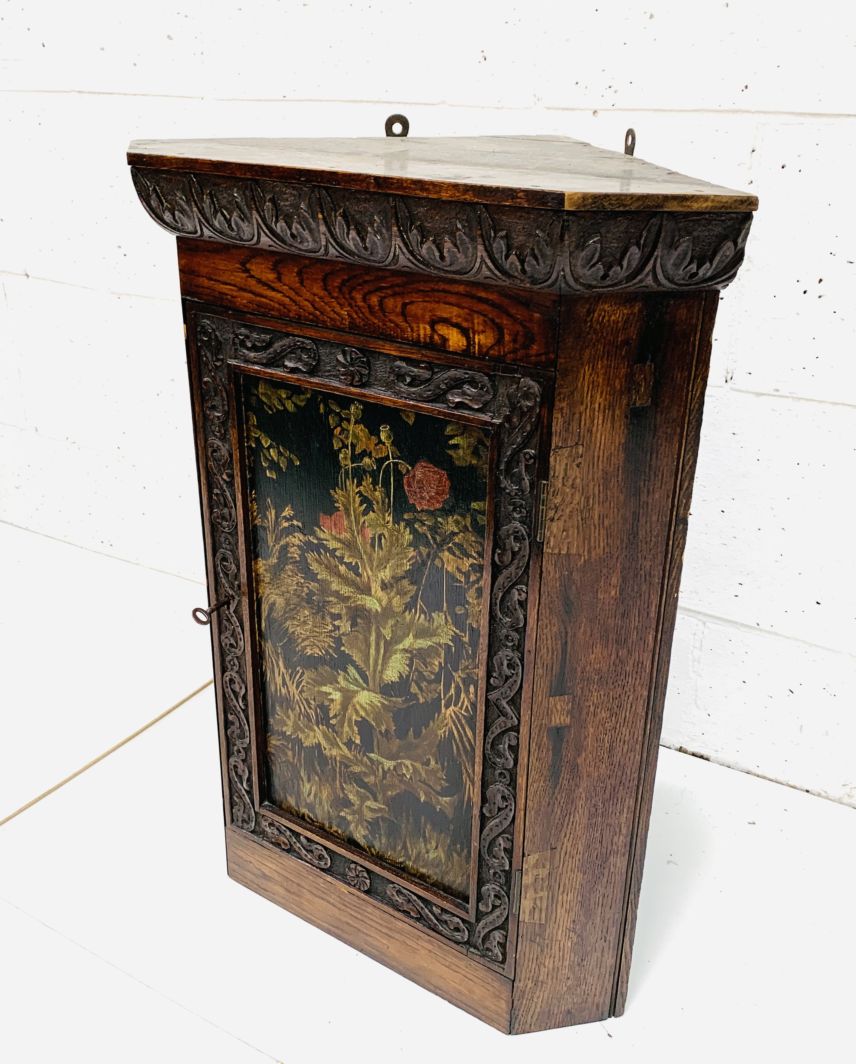 Oak corner cupboard - Image 2 of 6
