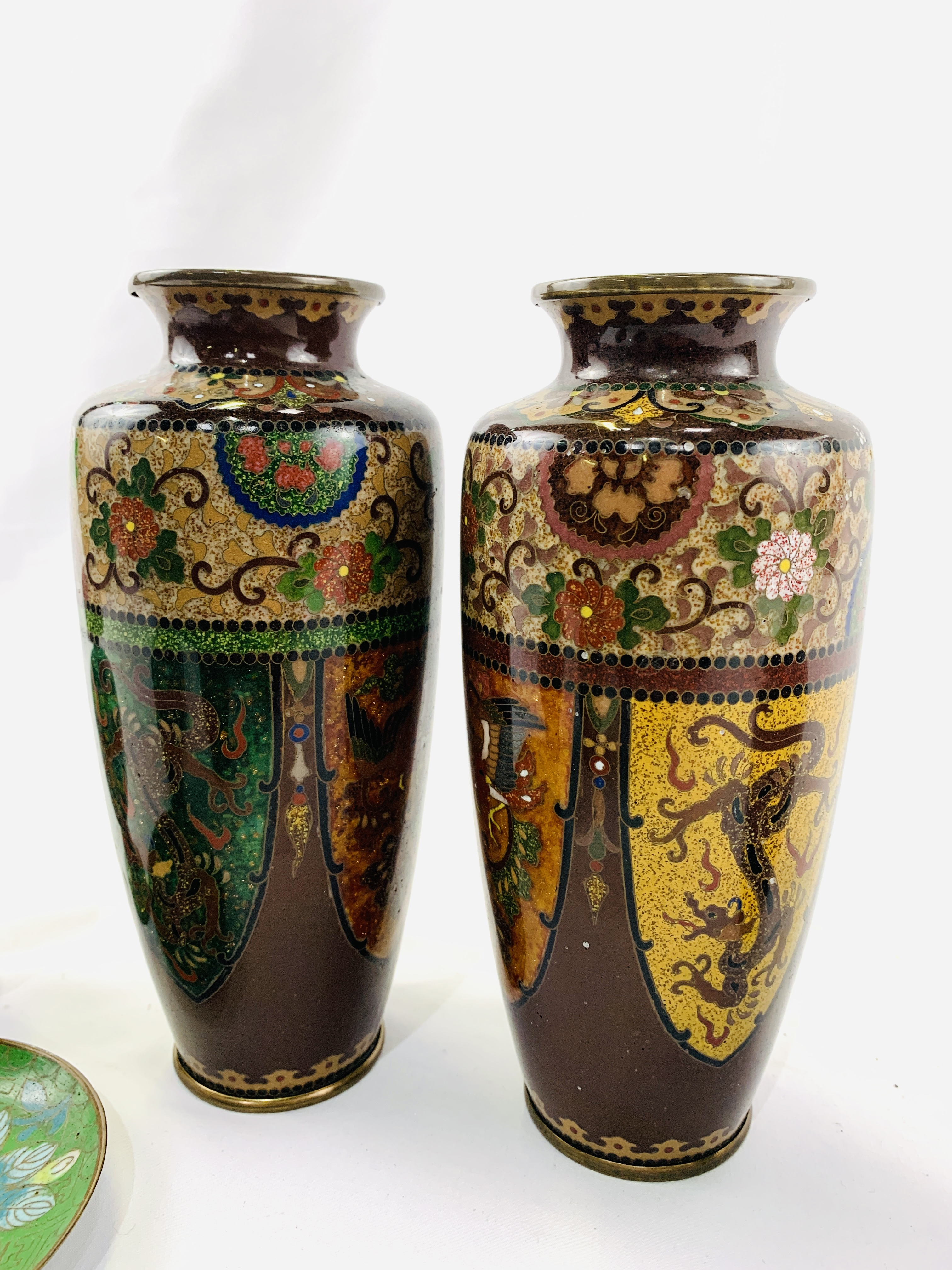 Collection of cloisonné objects - Image 5 of 8
