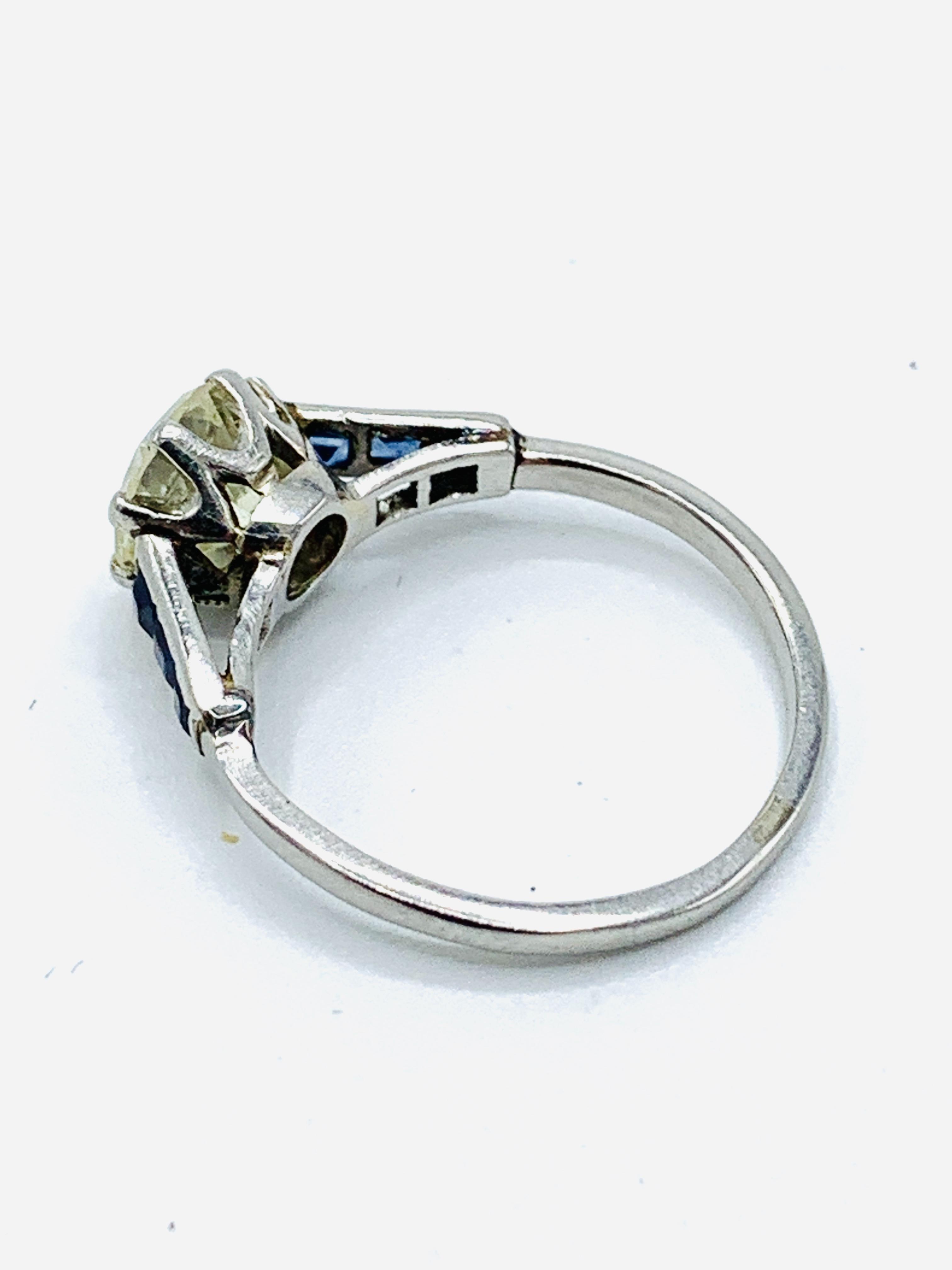 Platinum solitaire diamond ring - Image 3 of 5
