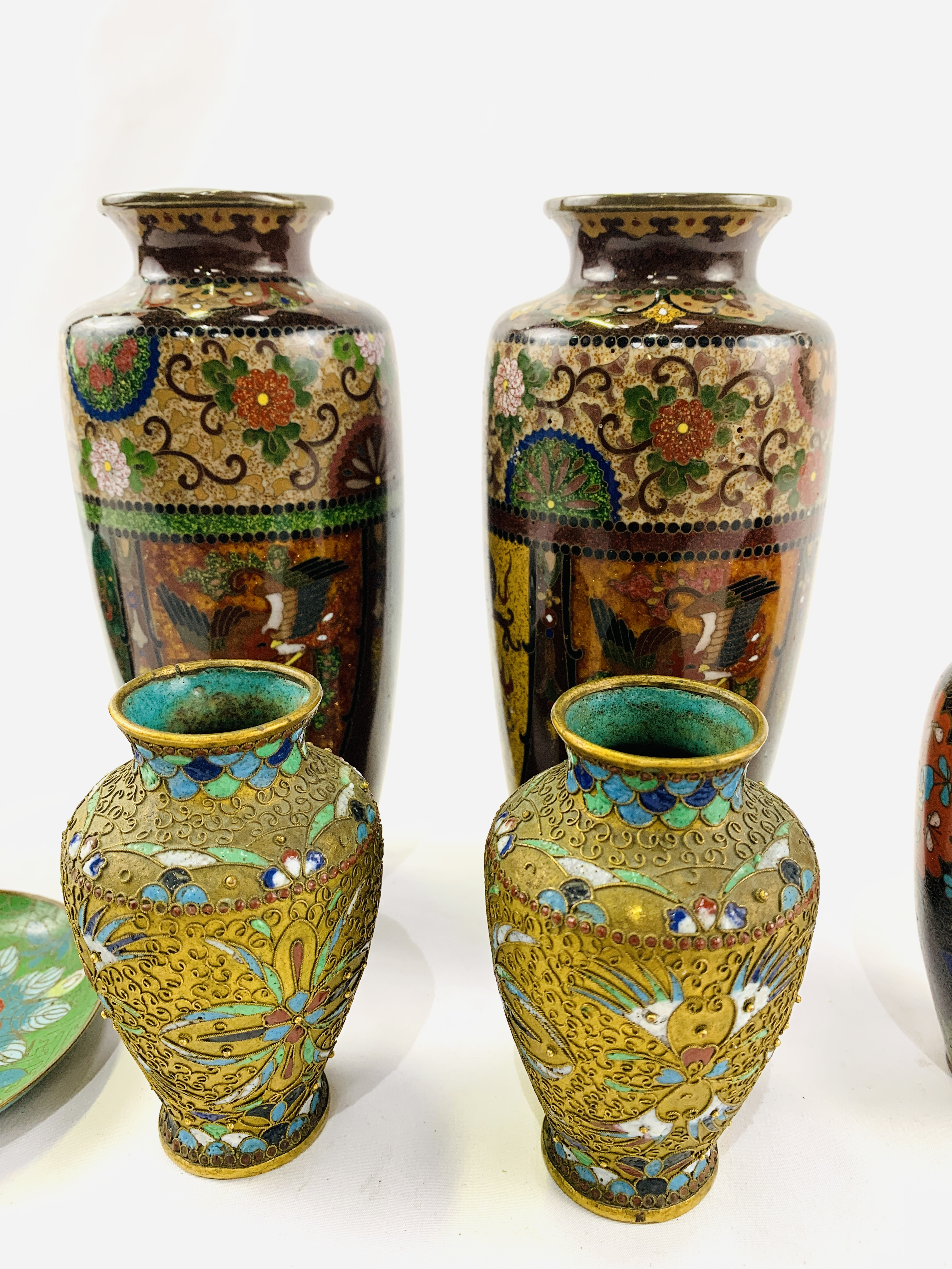Collection of cloisonné objects - Image 2 of 8