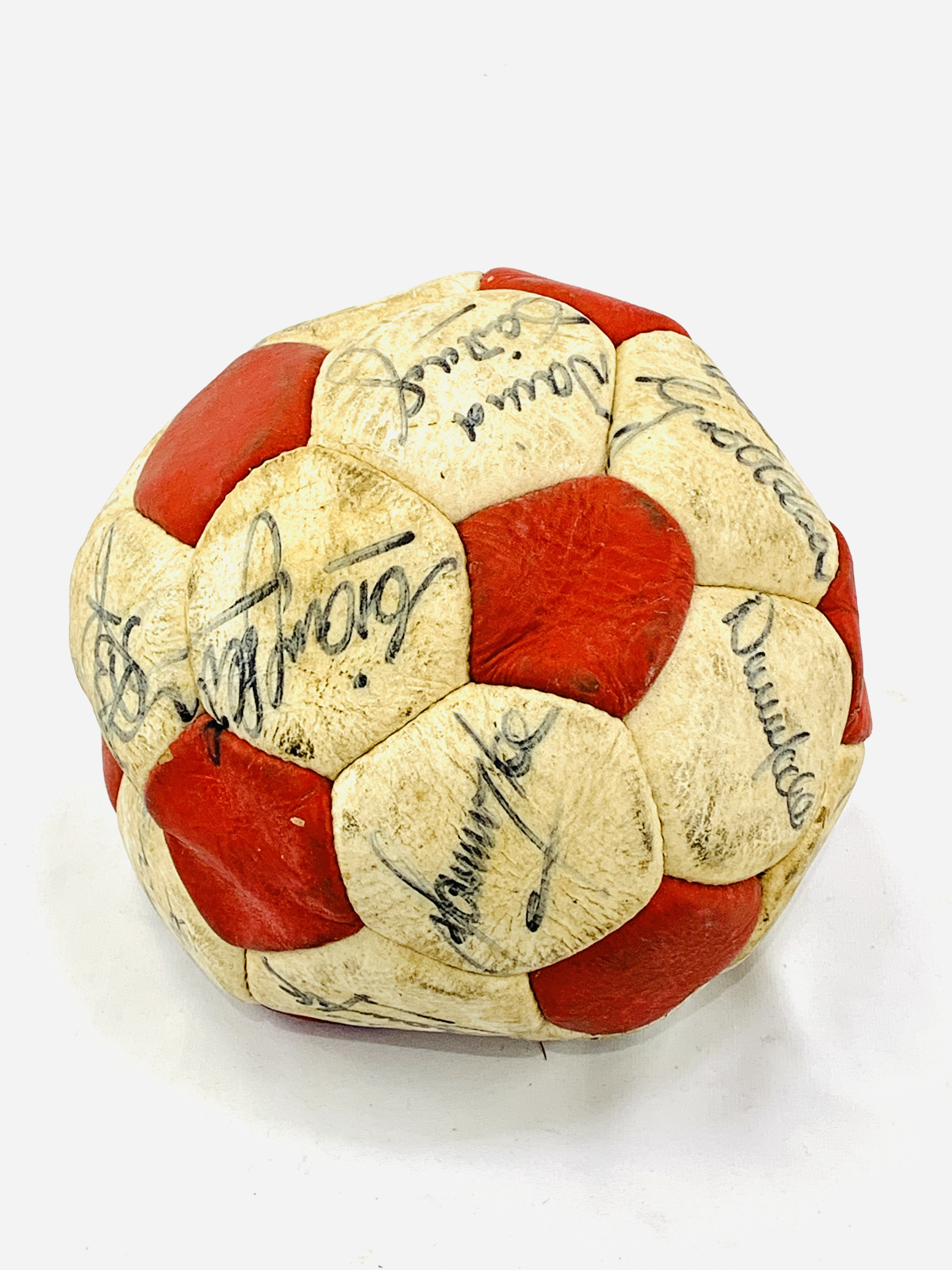 Signed Liverpool FC football, with original signatures - Image 3 of 4