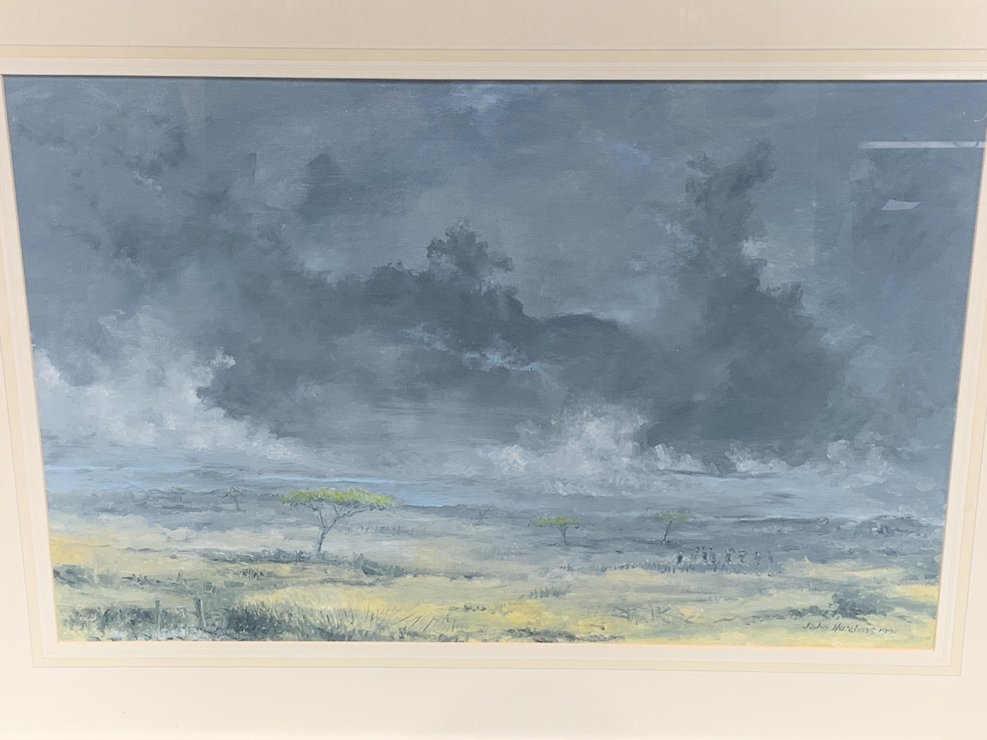 Framed oil on canvas signed John Hutchins - Image 2 of 3