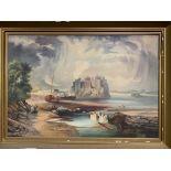 Gilt framed oil on canvas signed at the bottom left Hilda Jones 1919