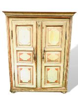 Mid-19th century French painted pine wardrobe