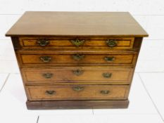 Mahogany chest of four graduated drawers