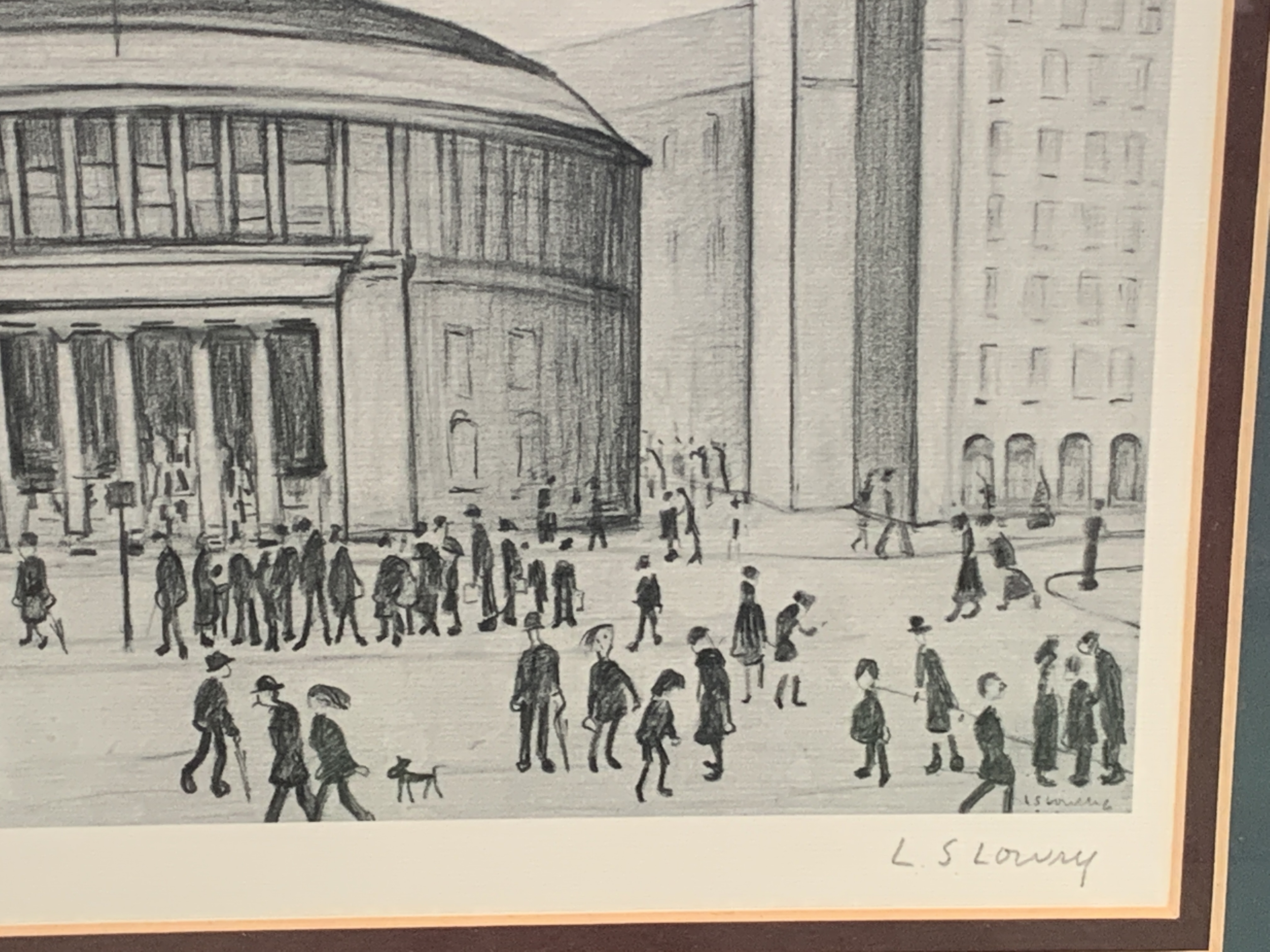 Framed and glazed Limited Edition L S Lowry print of Manchester Reference Library - Image 3 of 4