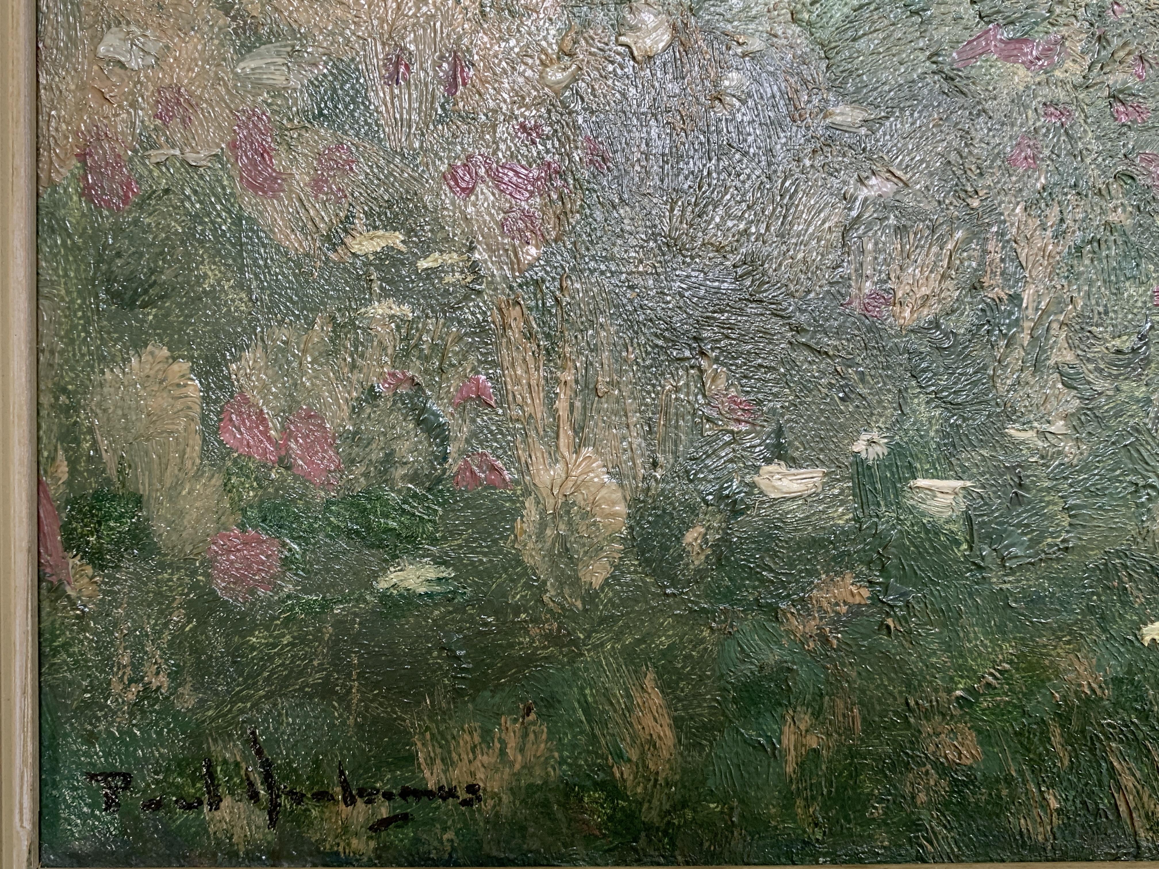 Framed oil on canvas of fields signed P. Arntzenius - Image 3 of 4