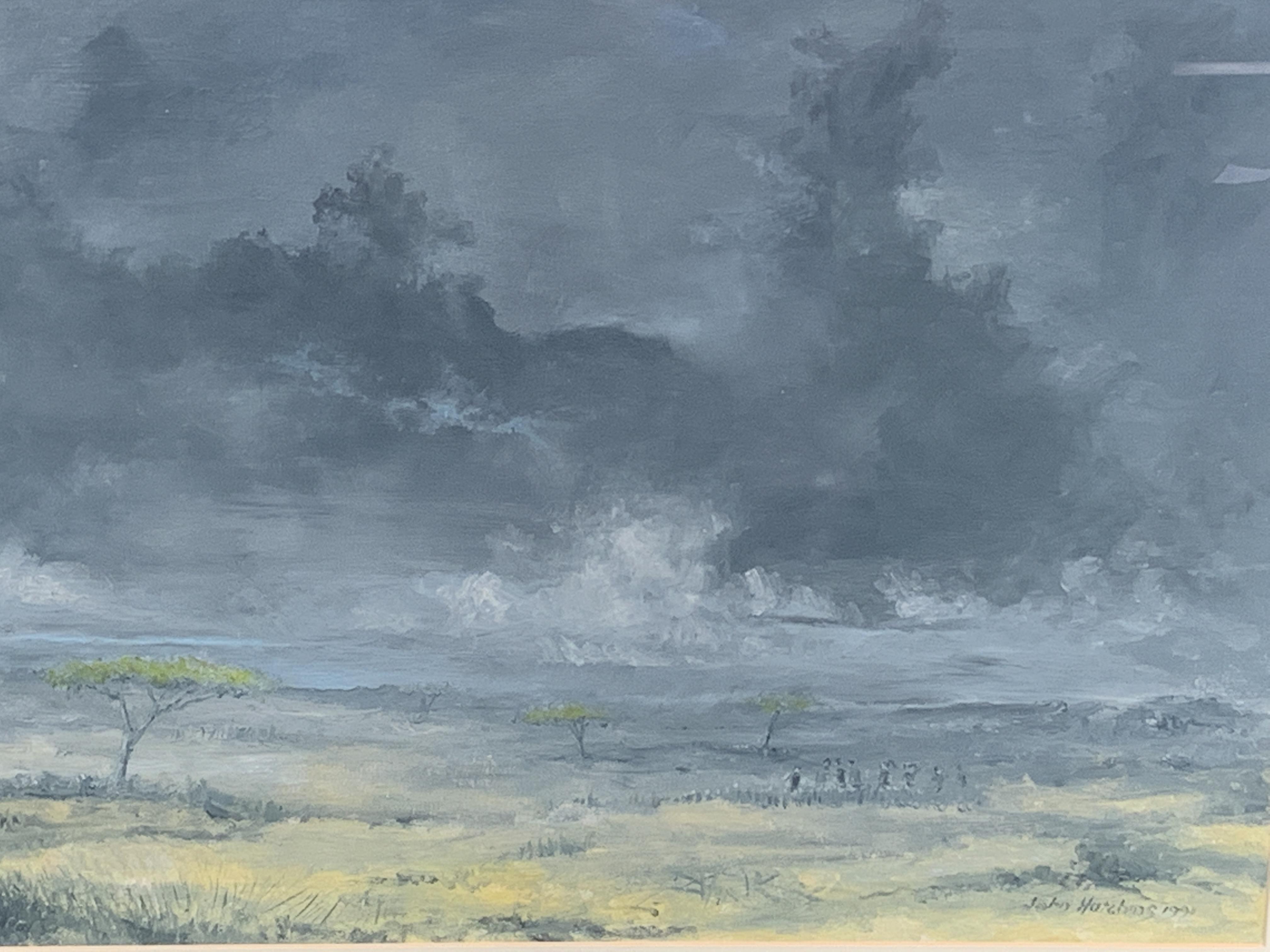 Framed oil on canvas signed John Hutchins - Image 3 of 3