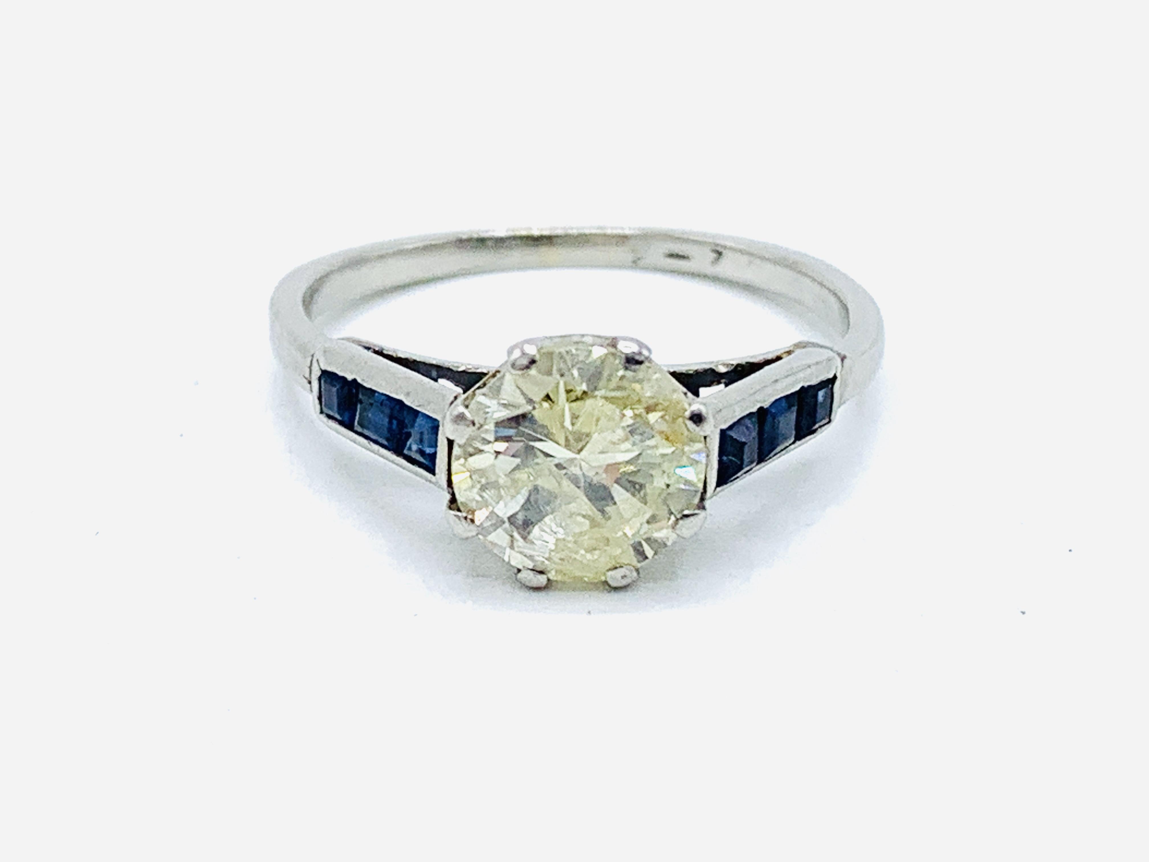 Platinum solitaire diamond ring - Image 4 of 5