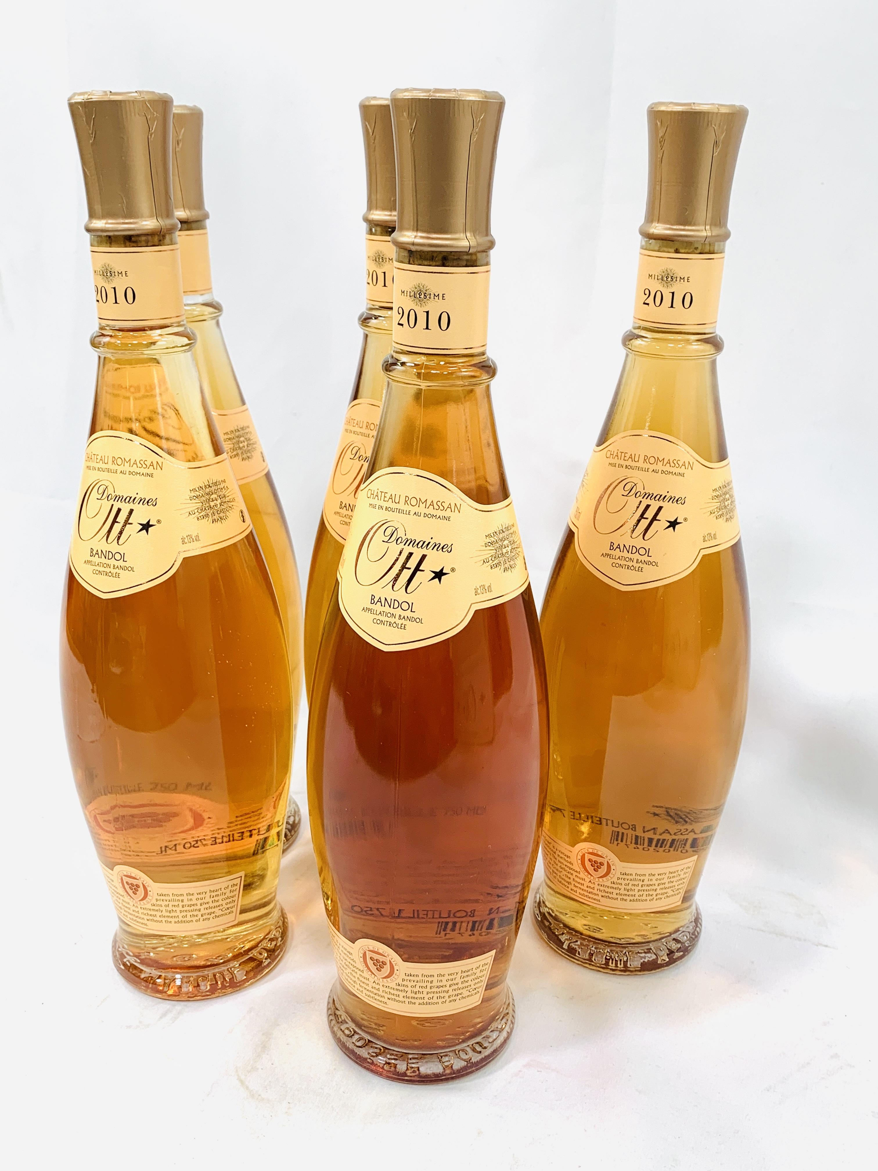 Five 75cl bottles 2010 Domaines Ott Château Romassan Bandol rosé - Image 2 of 3