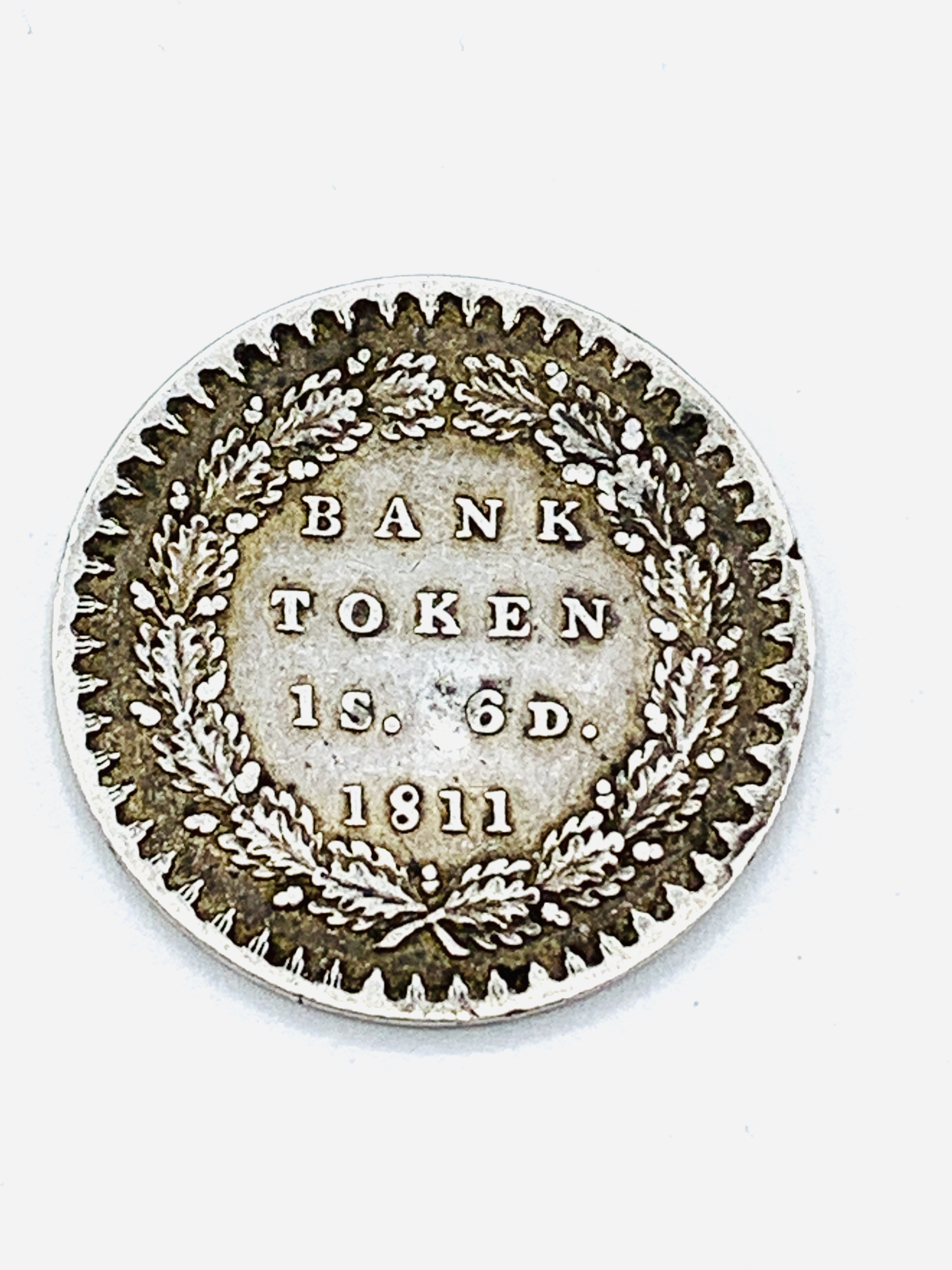 George III silver Bank Token for 1 shilling and 6 pence - Image 2 of 2